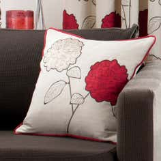 Red Louisa Collection Square Cushion