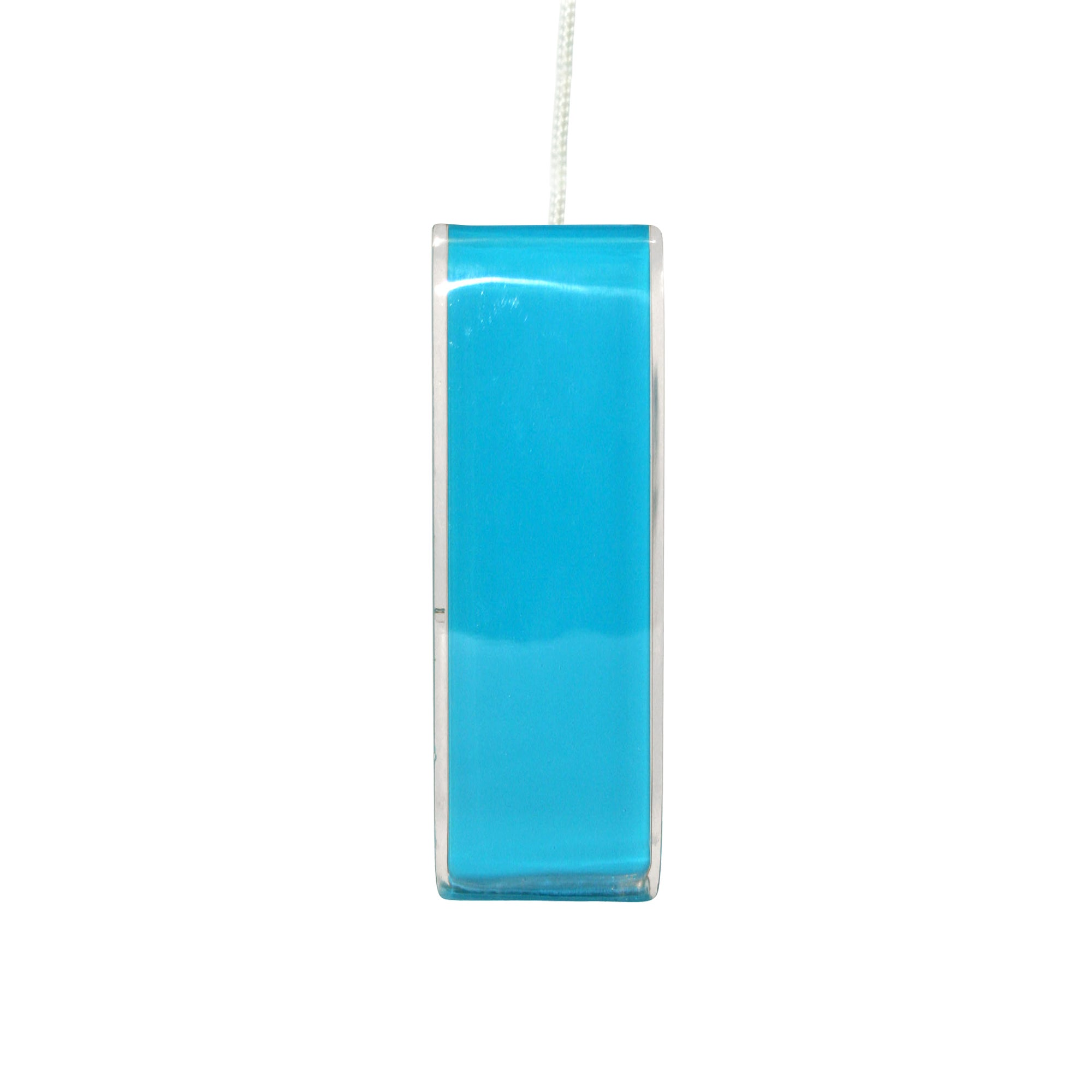 Teal Brights Collection Acrylic Light Pull and Cord