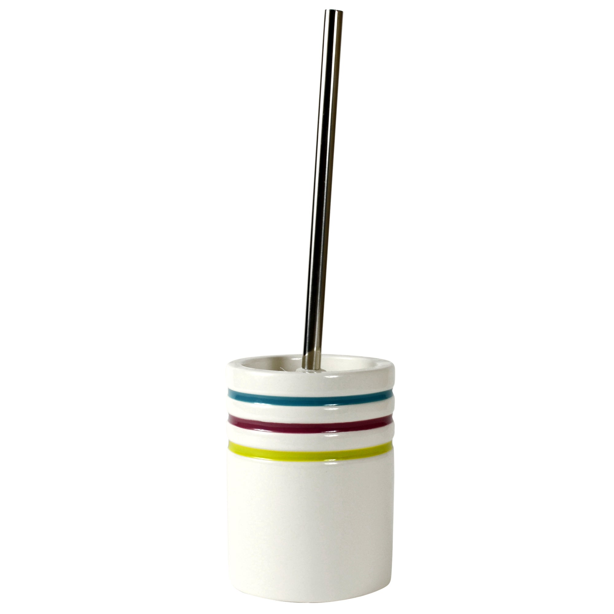 Haven Brights Collection Striped Toilet Brush Holder