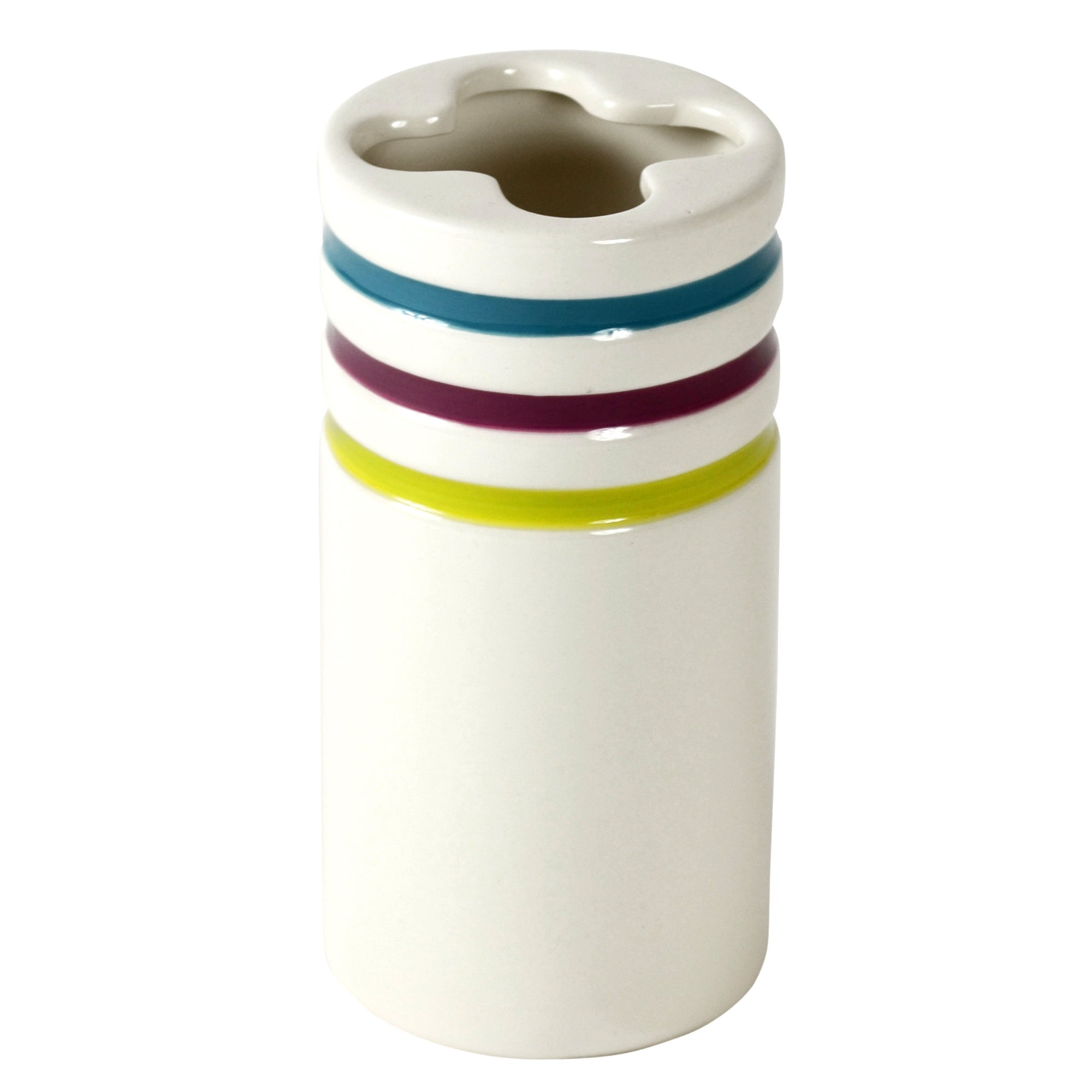 Haven Brights Collection Striped Toothbrush Holder