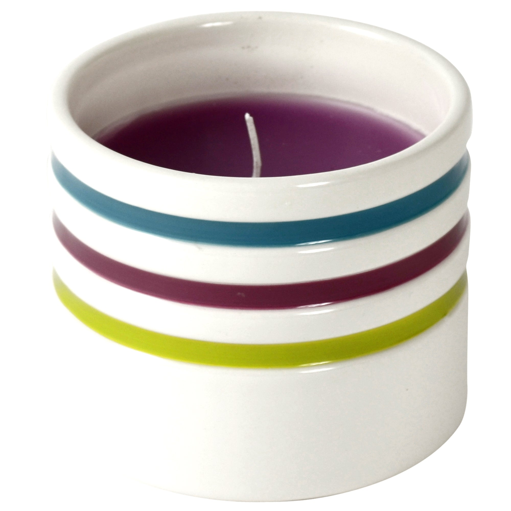 Haven Brights Collection Striped Candle