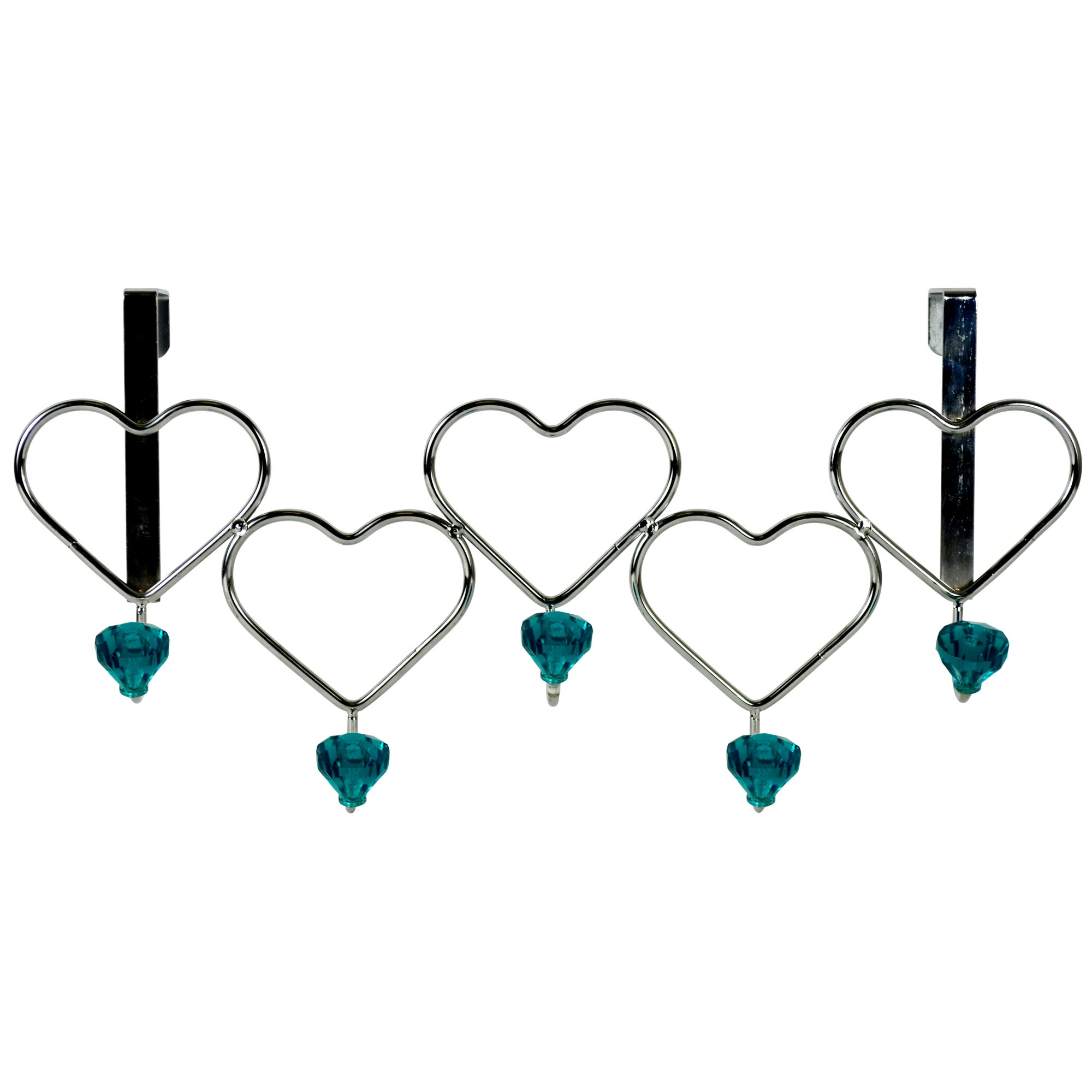 Jewel Heart Over the Door Hooks