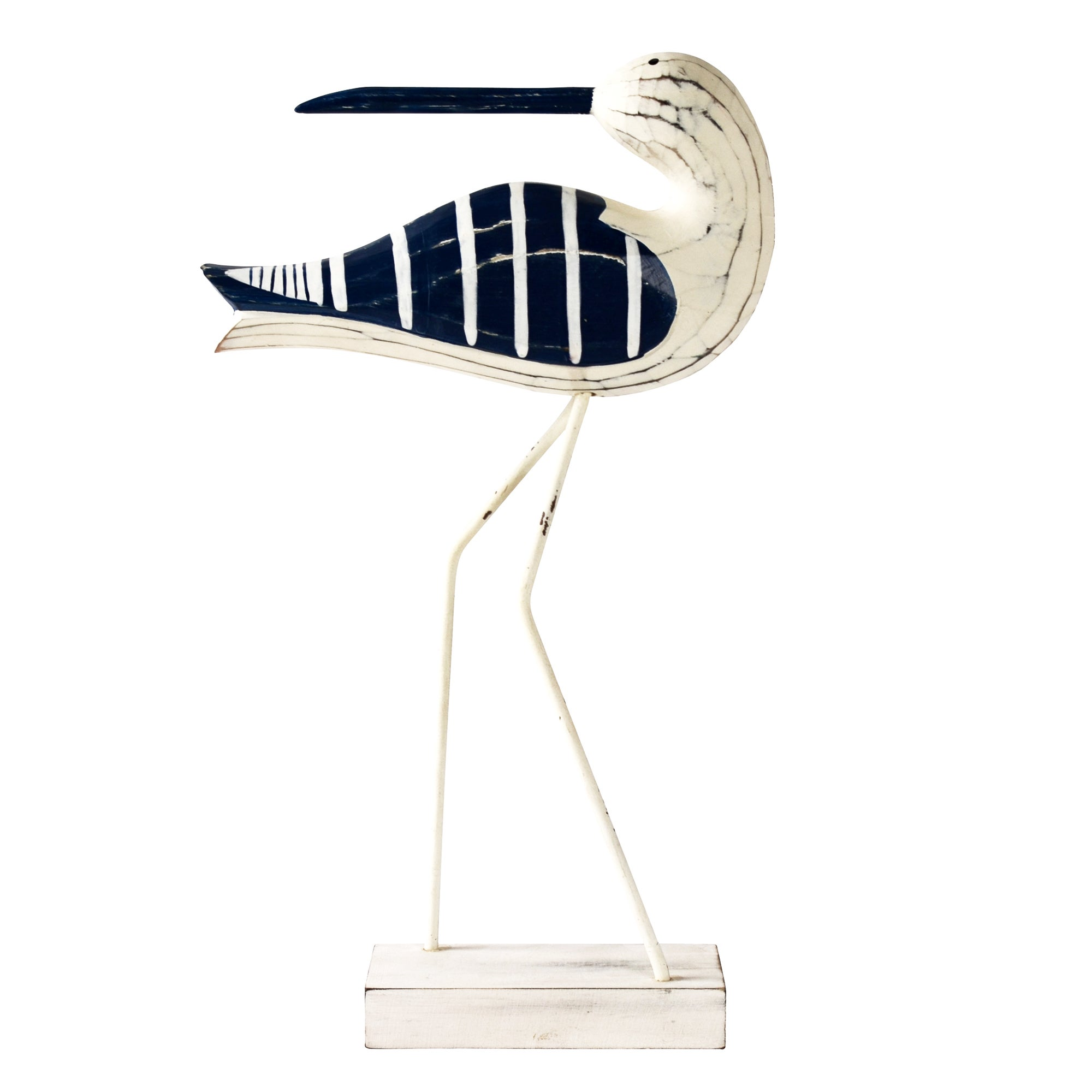 Nautical Collection Wooden Standing Bird