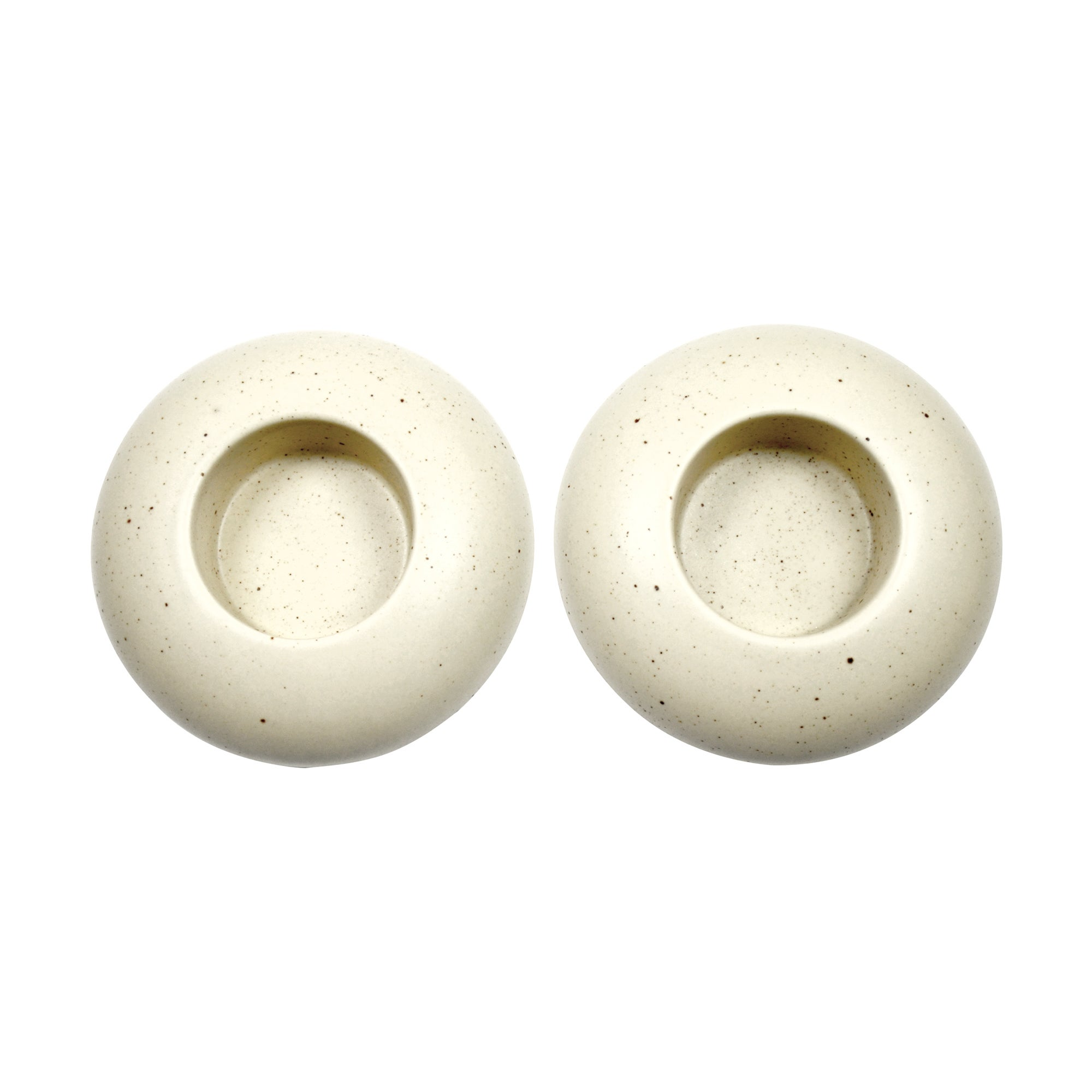 Naturals Collection Set of 2 Pebble Tea Light Holders