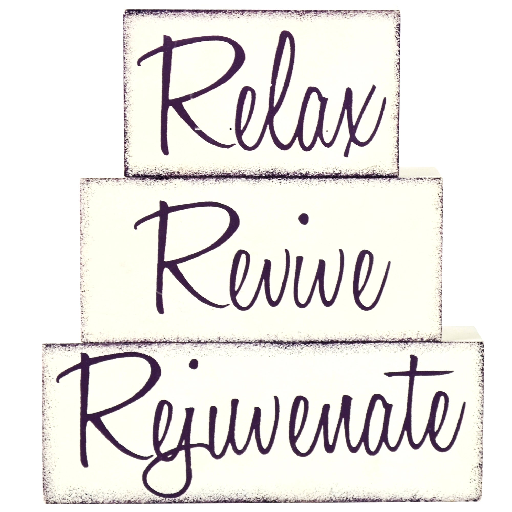 Relax Set of Wooden Word Blocks