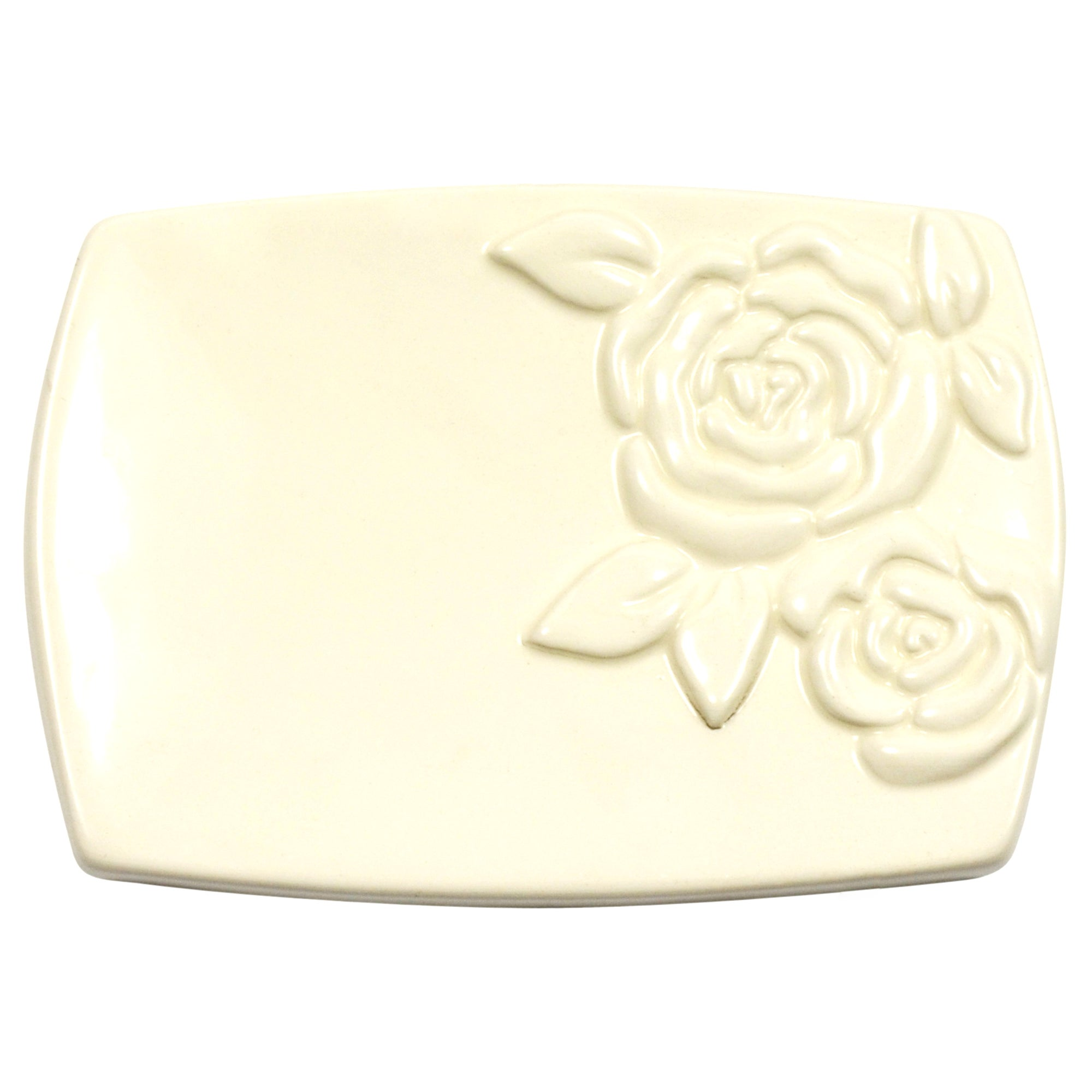 Rose Collection Embossed Soap Dish