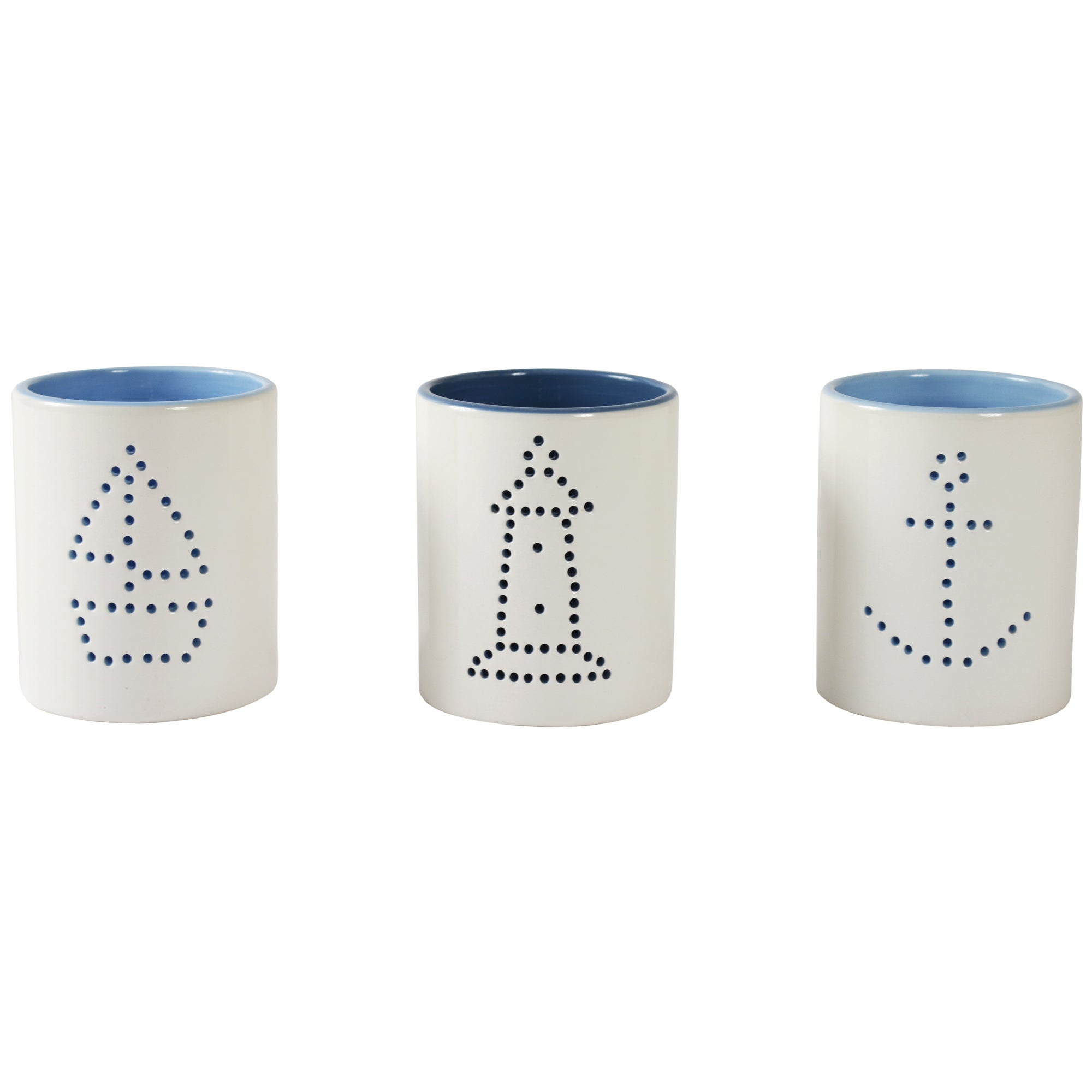 Nautical Collection Set of 3 Tea Light Holders