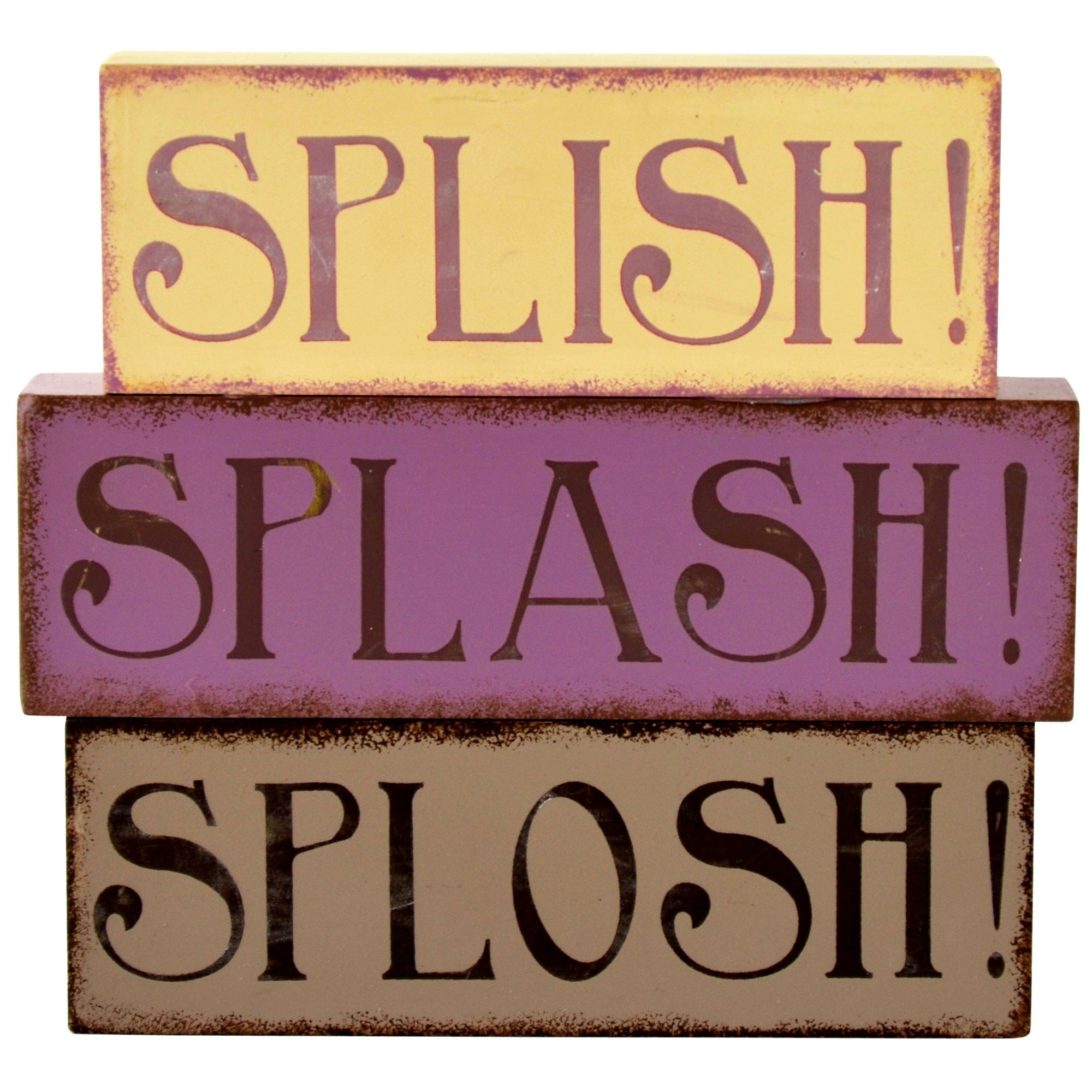 Splish Splash Collection Wooden Word Blocks