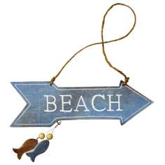 Nautical Collection Beach Arrow Hanging Sign