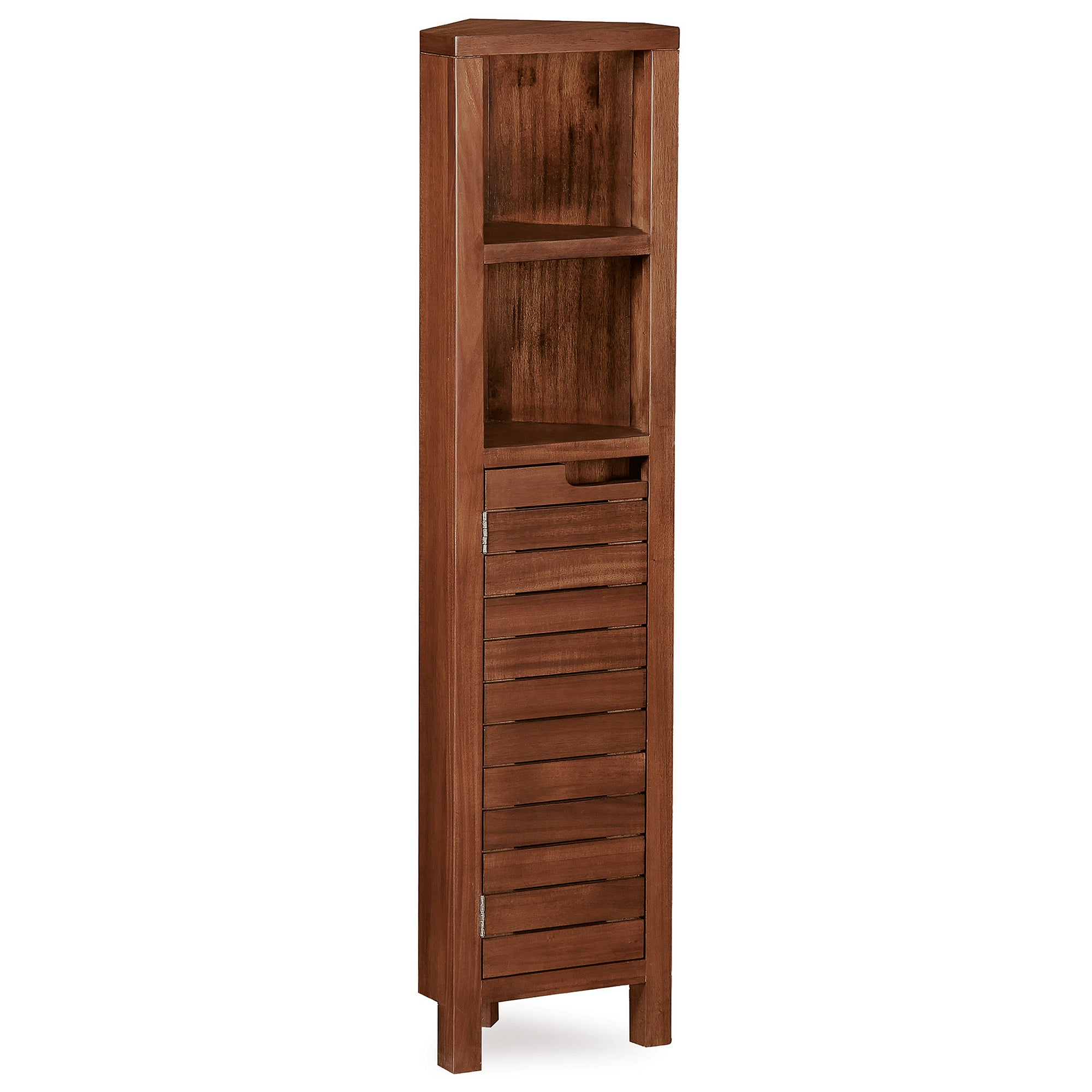 Marseille Acacia Slatted Corner Tall Unit