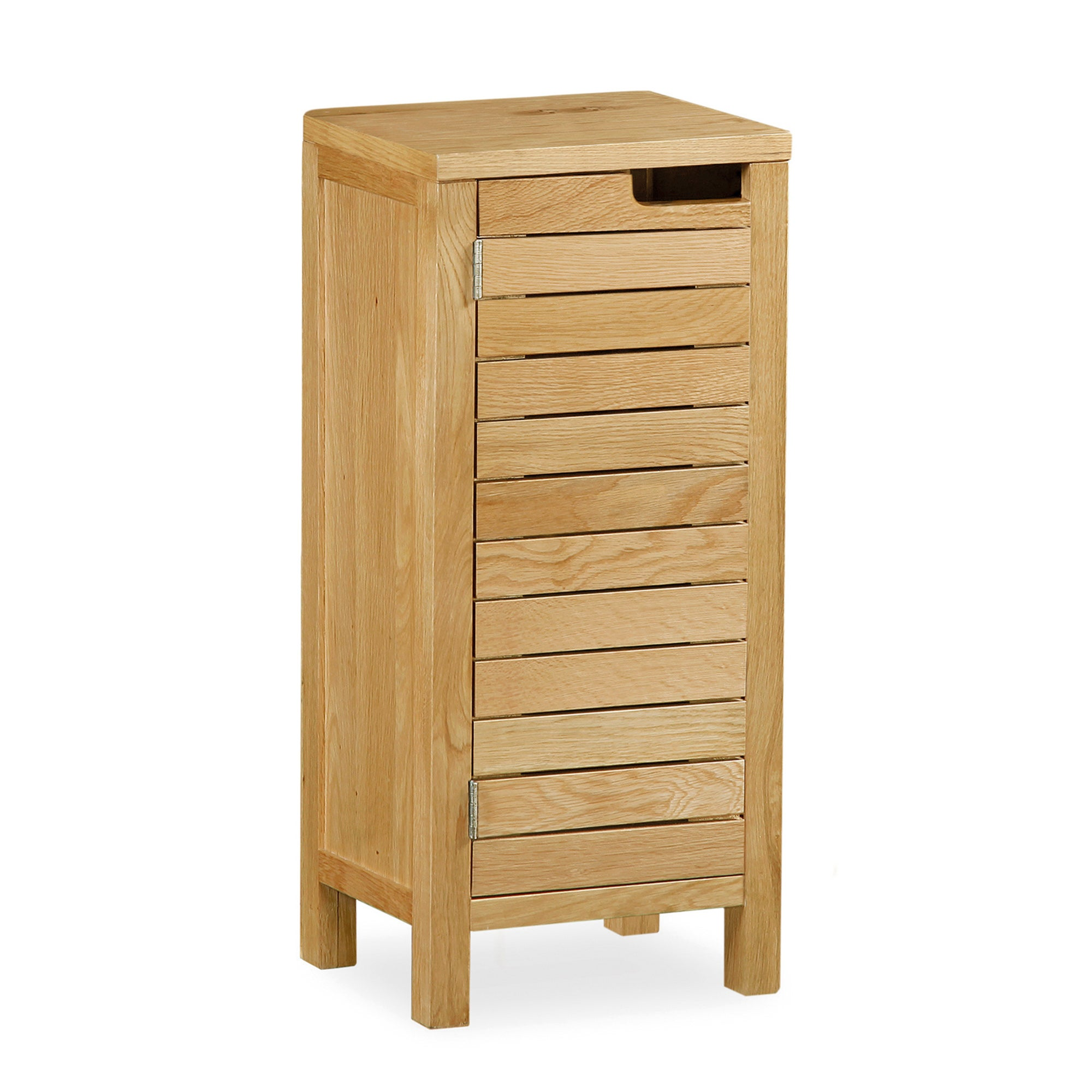 Milan Oak Slatted Storage Unit