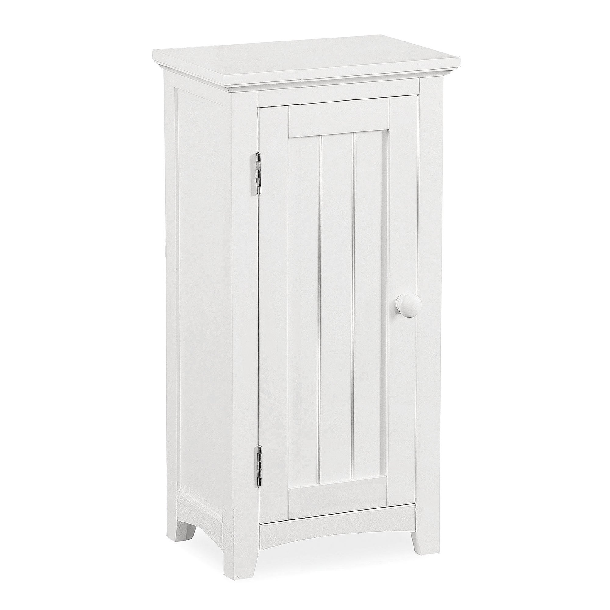 Monaco White Acacia Wood Standing Storage Unit