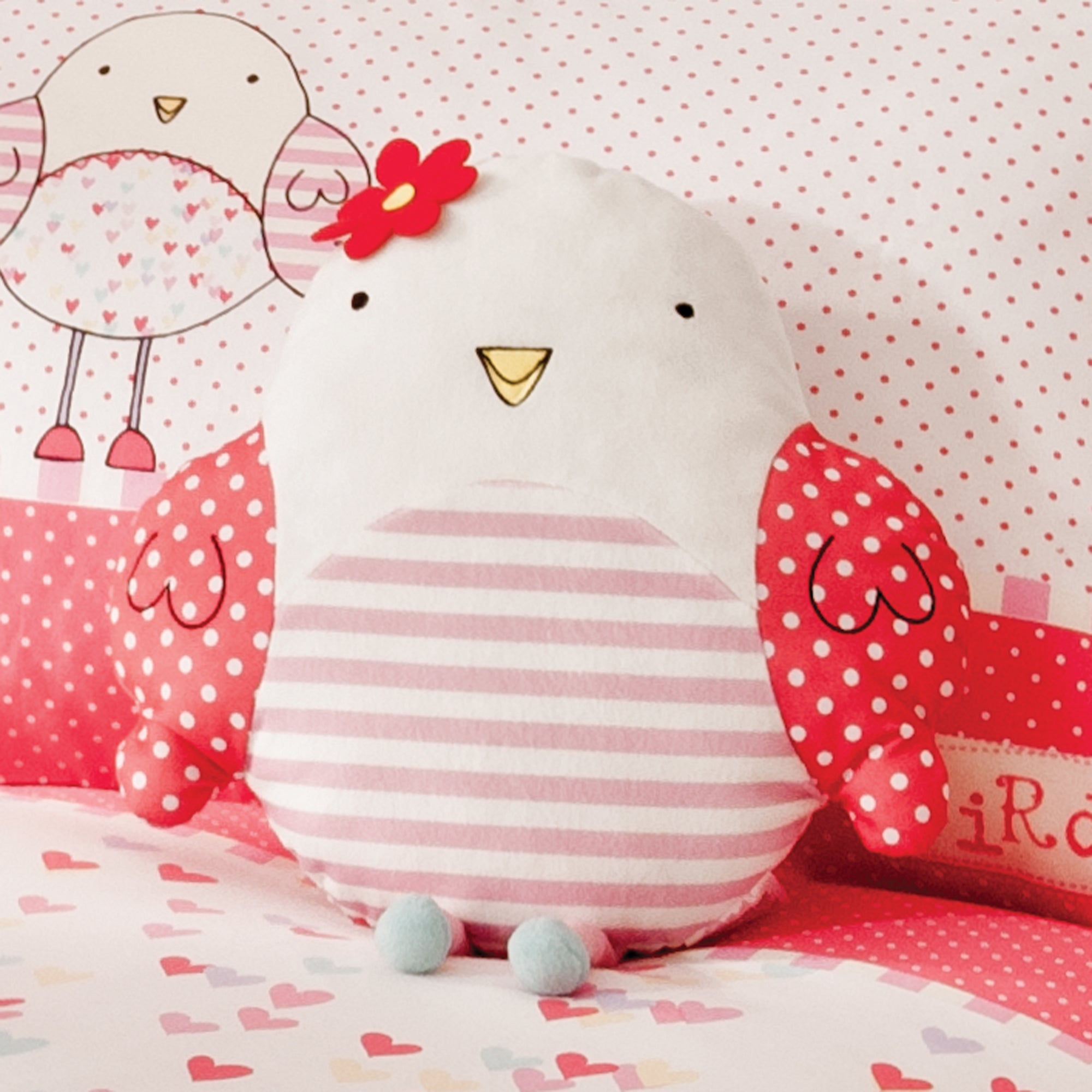 Kids Bella Birdy Collection 3D Cushion