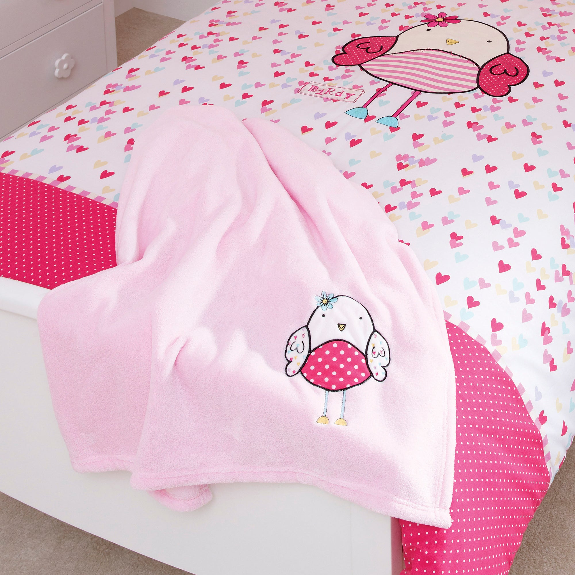 Kids Bella Birdy Collection Fleece Throw