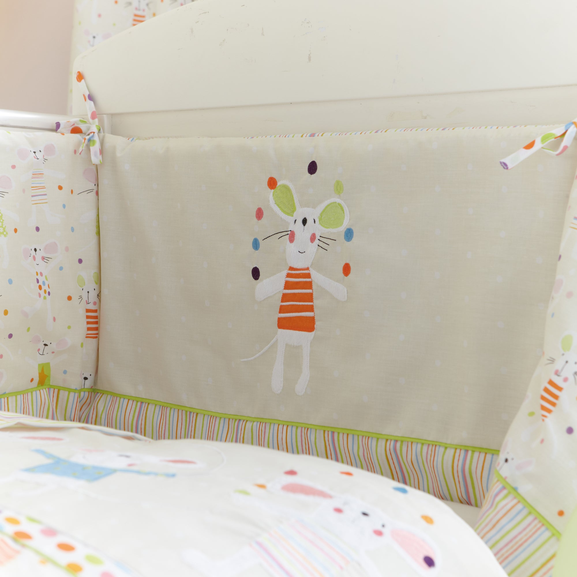 Kids Charlie & Friends Collection Cot Bumper