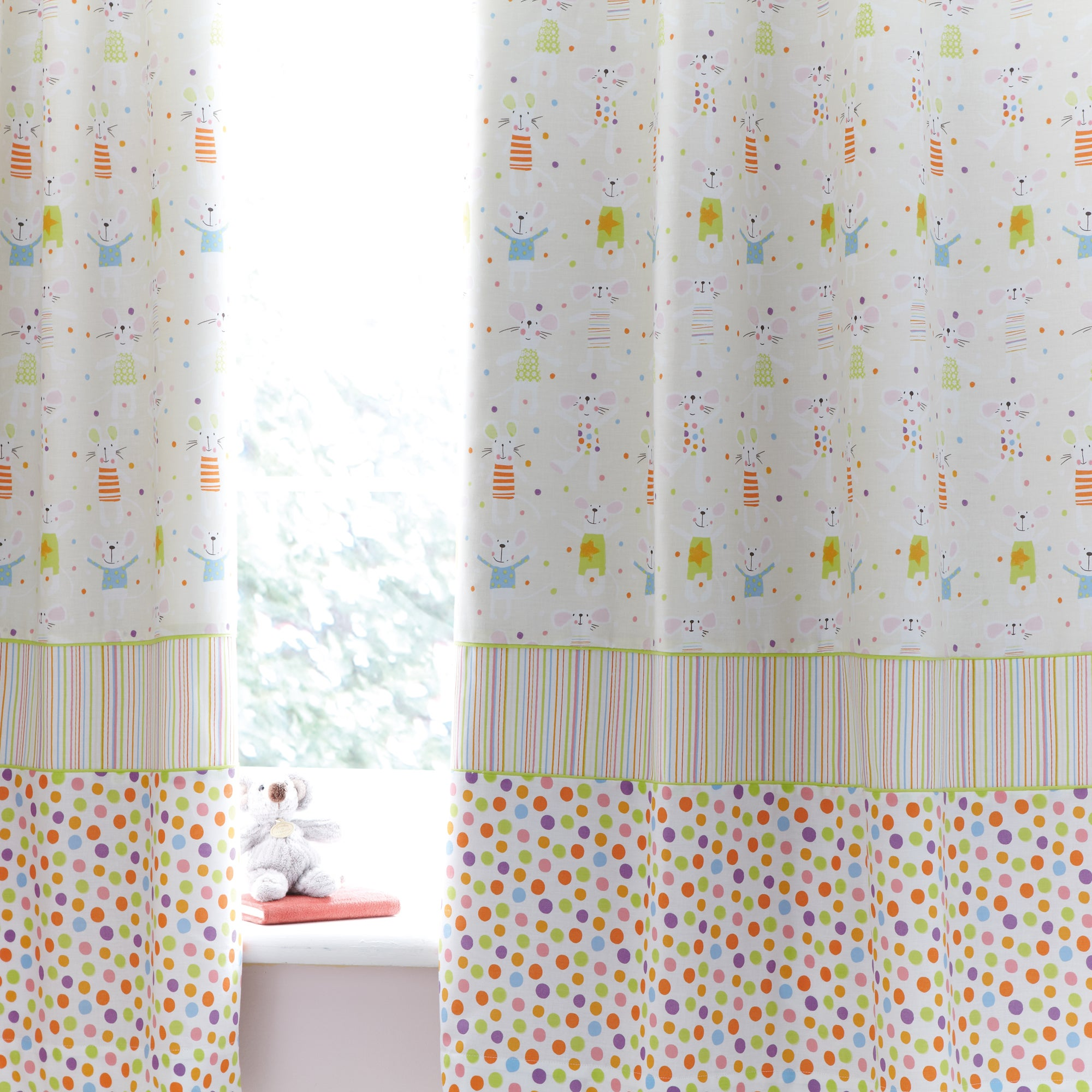 Kids Charlie & Friends Pencil Pleat Blackout Curtains