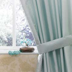 Duck Egg Elizabeth Thermal Pencil Pleat Curtains