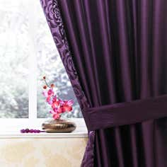 Plum Elizabeth Thermal Pencil Pleat Curtains