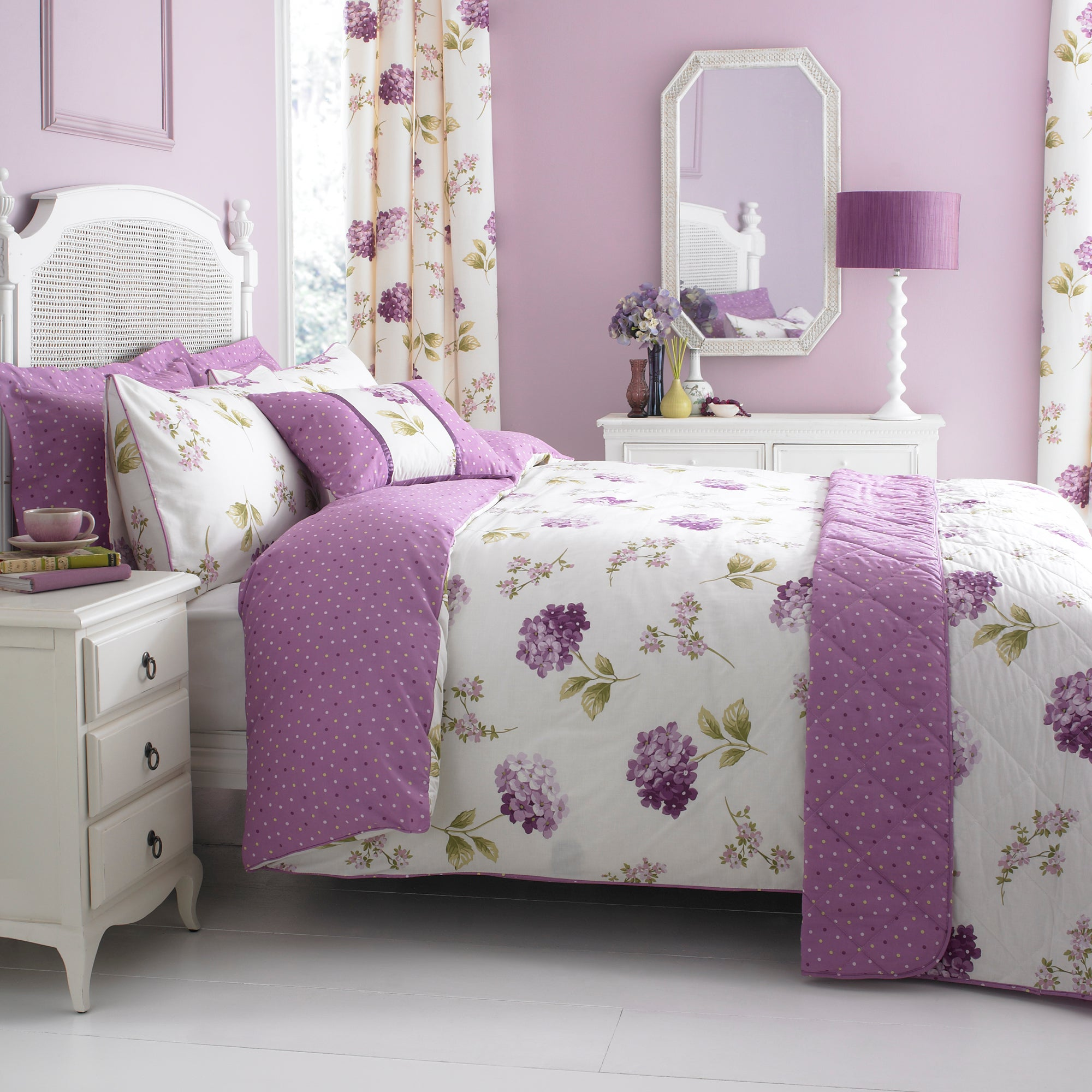 heather erin collection duvet cover set dunelm. Black Bedroom Furniture Sets. Home Design Ideas