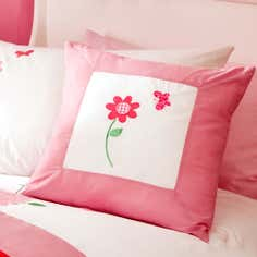 Kids Cerise Flower Garden Collection Cushion