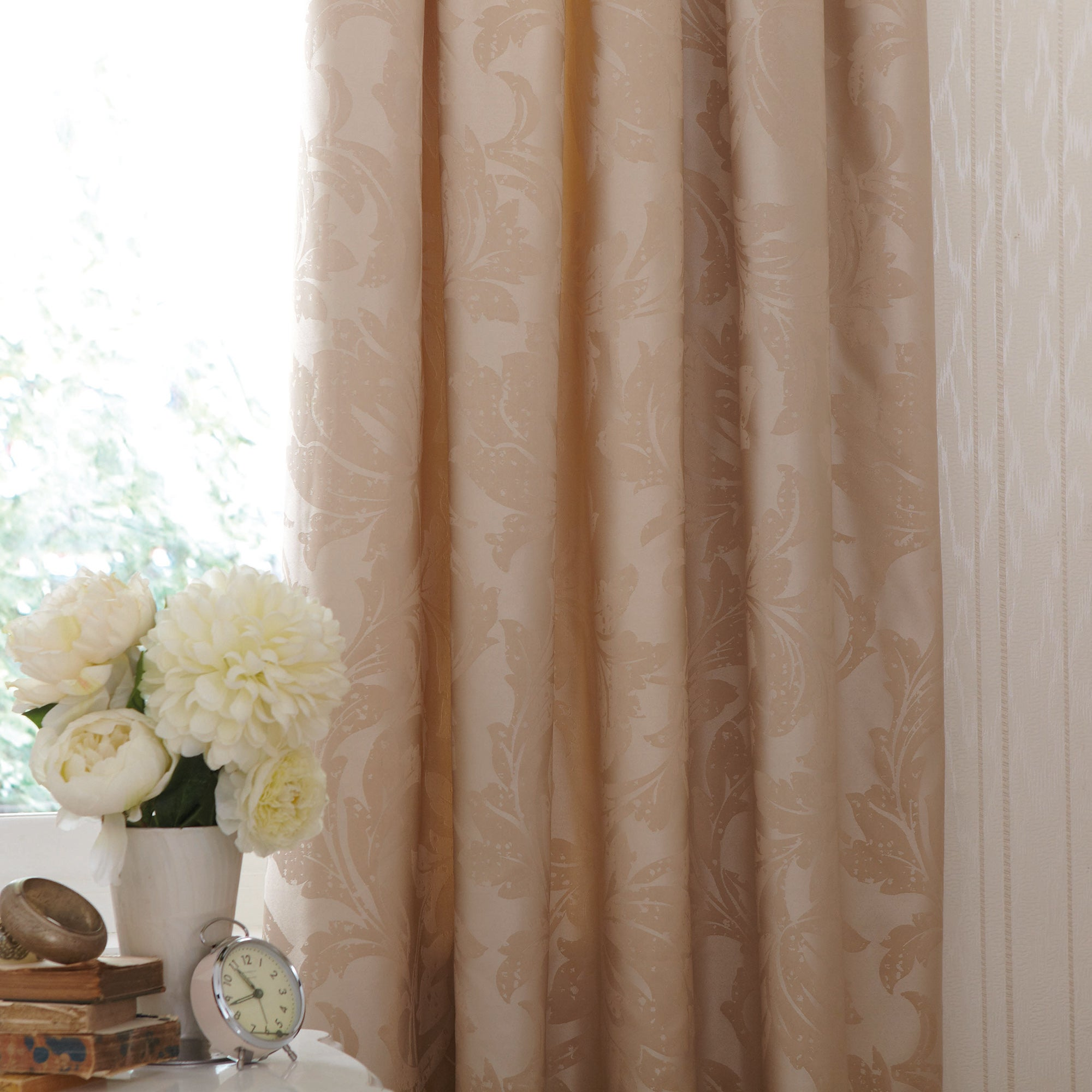 Gold Freya Thermal Pencil Pleat Curtains
