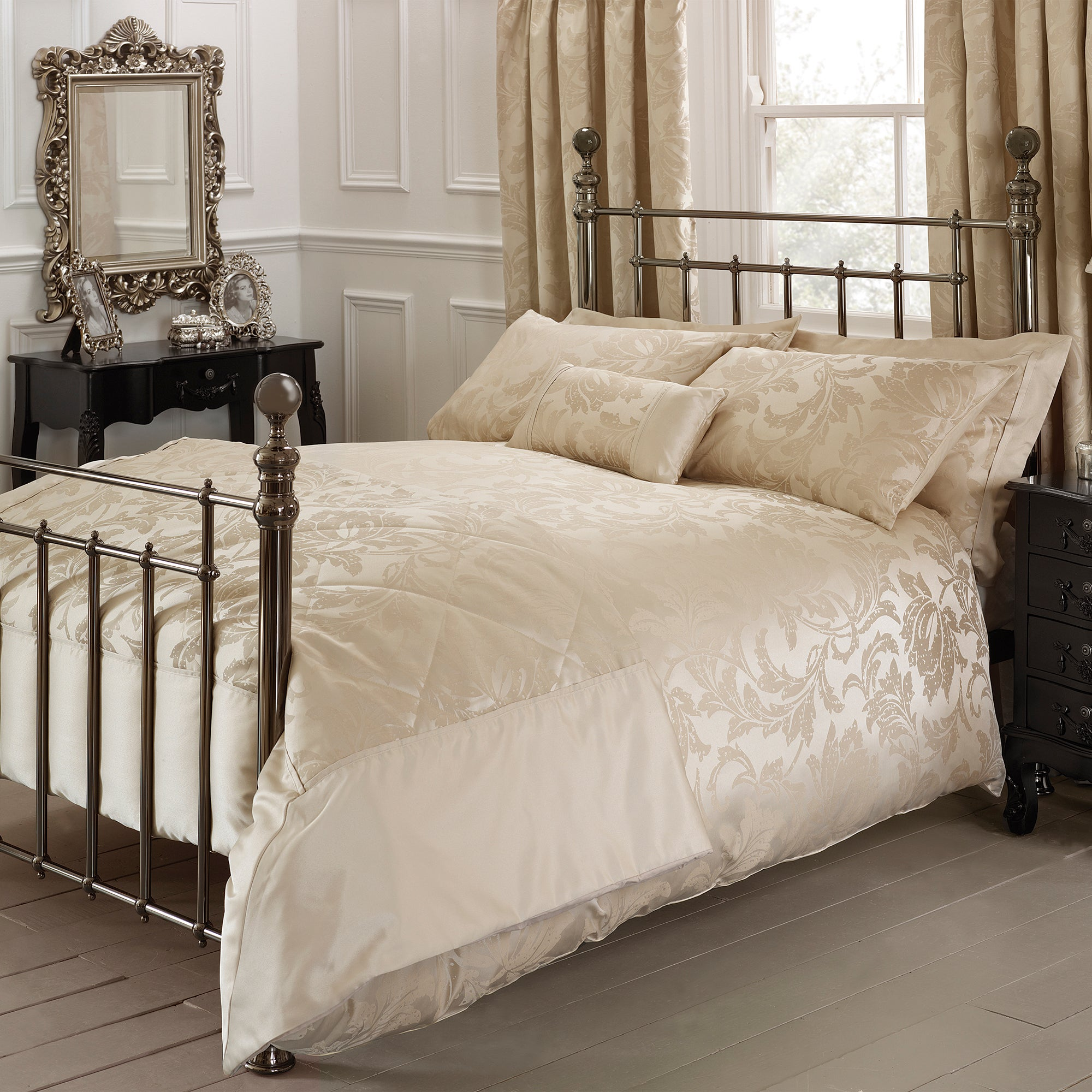 gold freya collection duvet cover dunelm. Black Bedroom Furniture Sets. Home Design Ideas