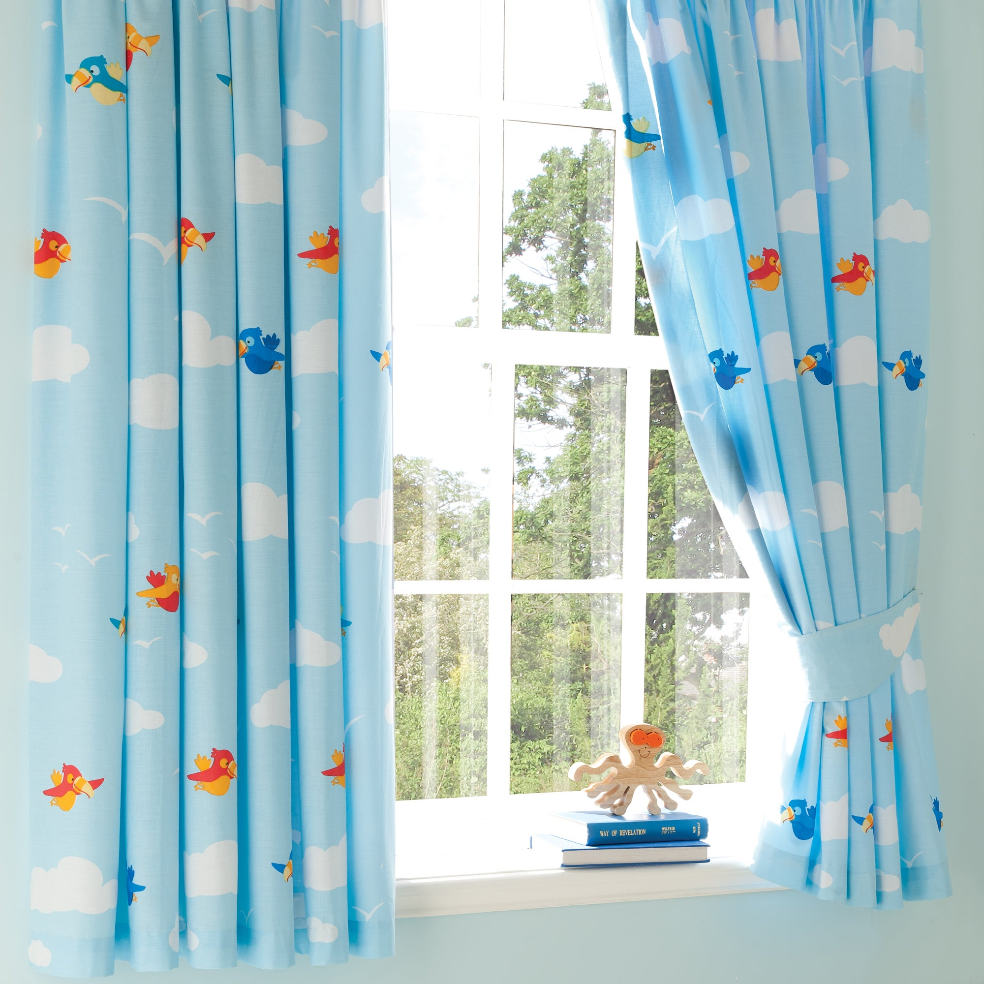 Kids Jolly Pirates Blackout Pencil Pleat Curtains