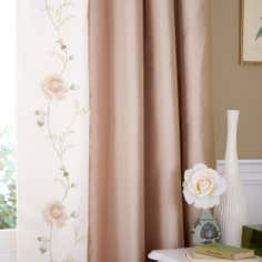 Gold Rosa Thermal Lined Pencil Pleat Curtains