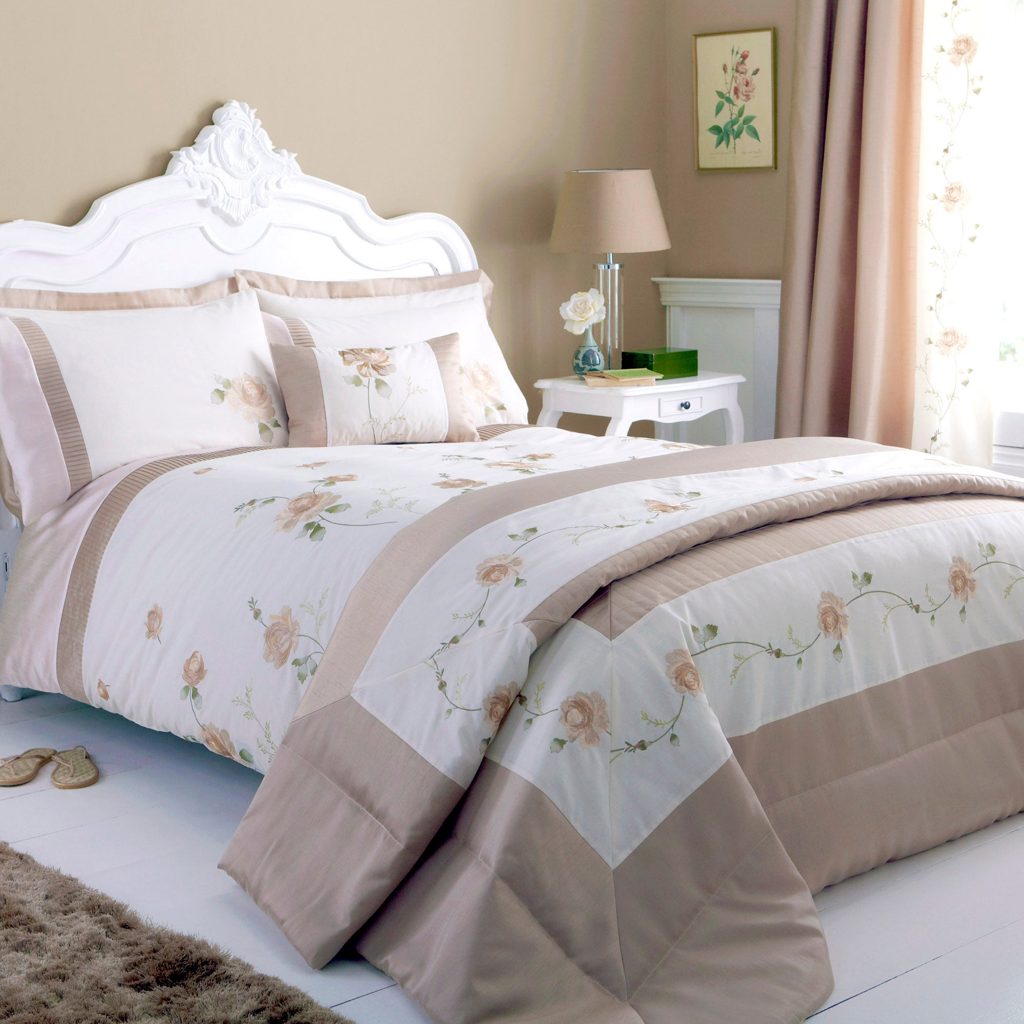 gold rosa collection duvet cover dunelm. Black Bedroom Furniture Sets. Home Design Ideas