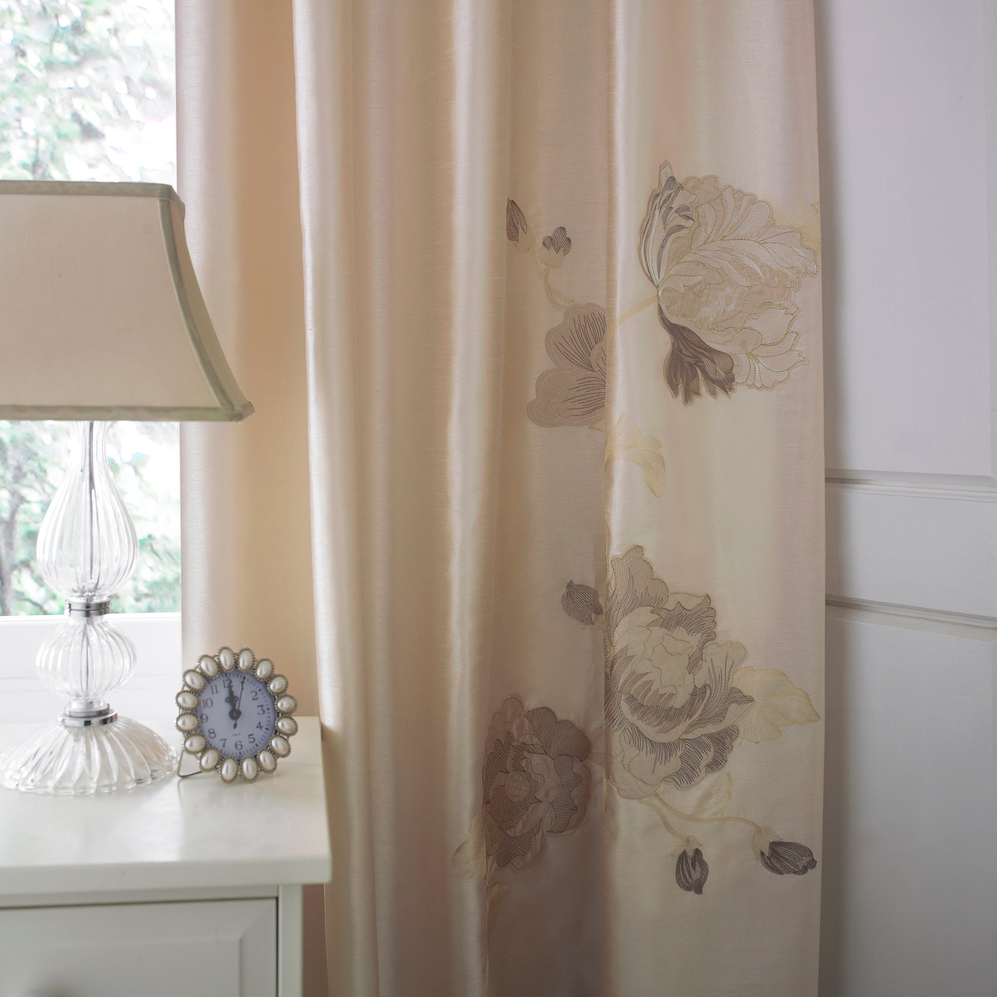 Gold Veronique Thermal Pencil Pleat Curtains