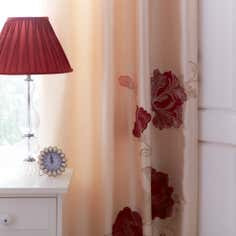 Red Veronique Thermal Pencil Pleat Curtains