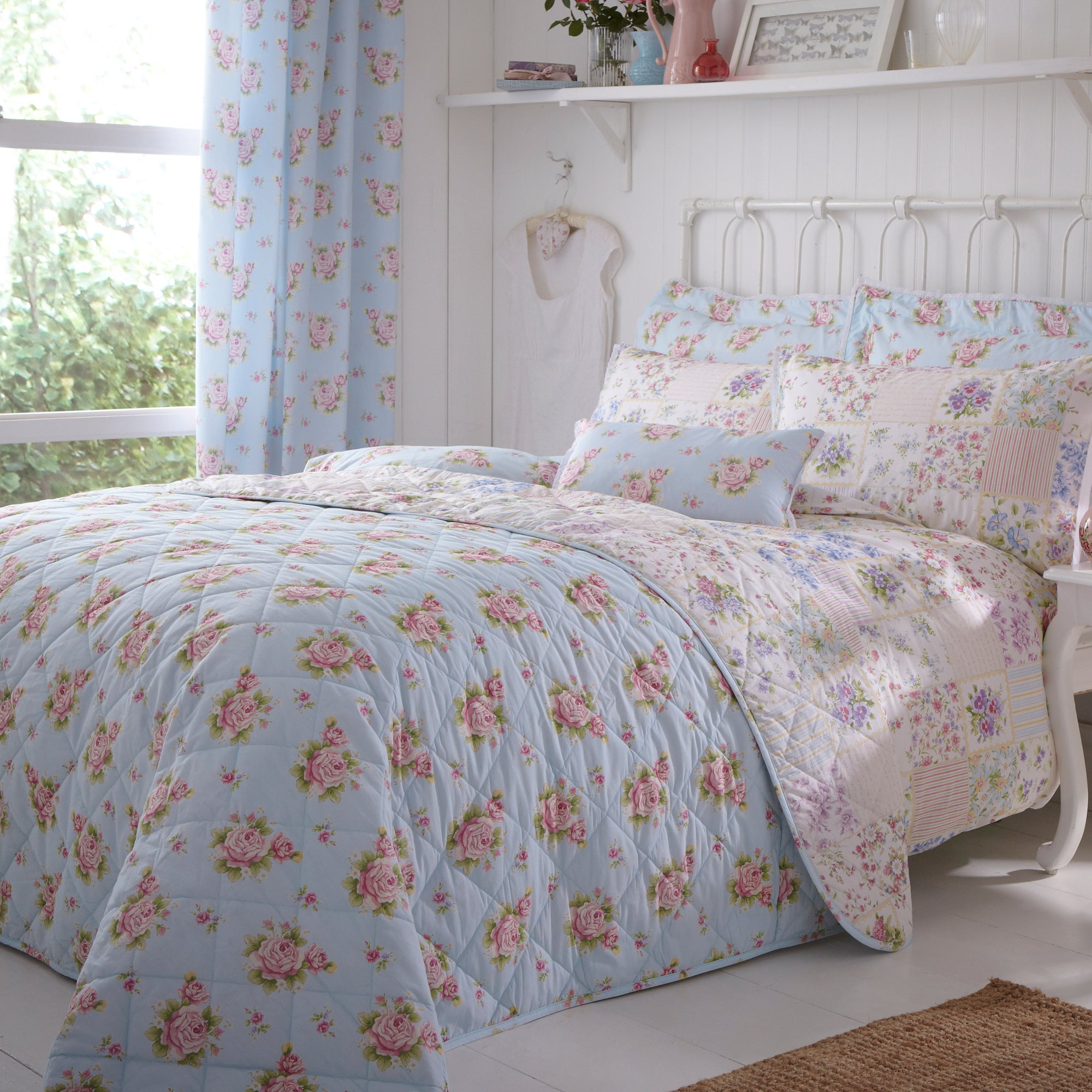 Duck Egg Viola Collection Bedspread