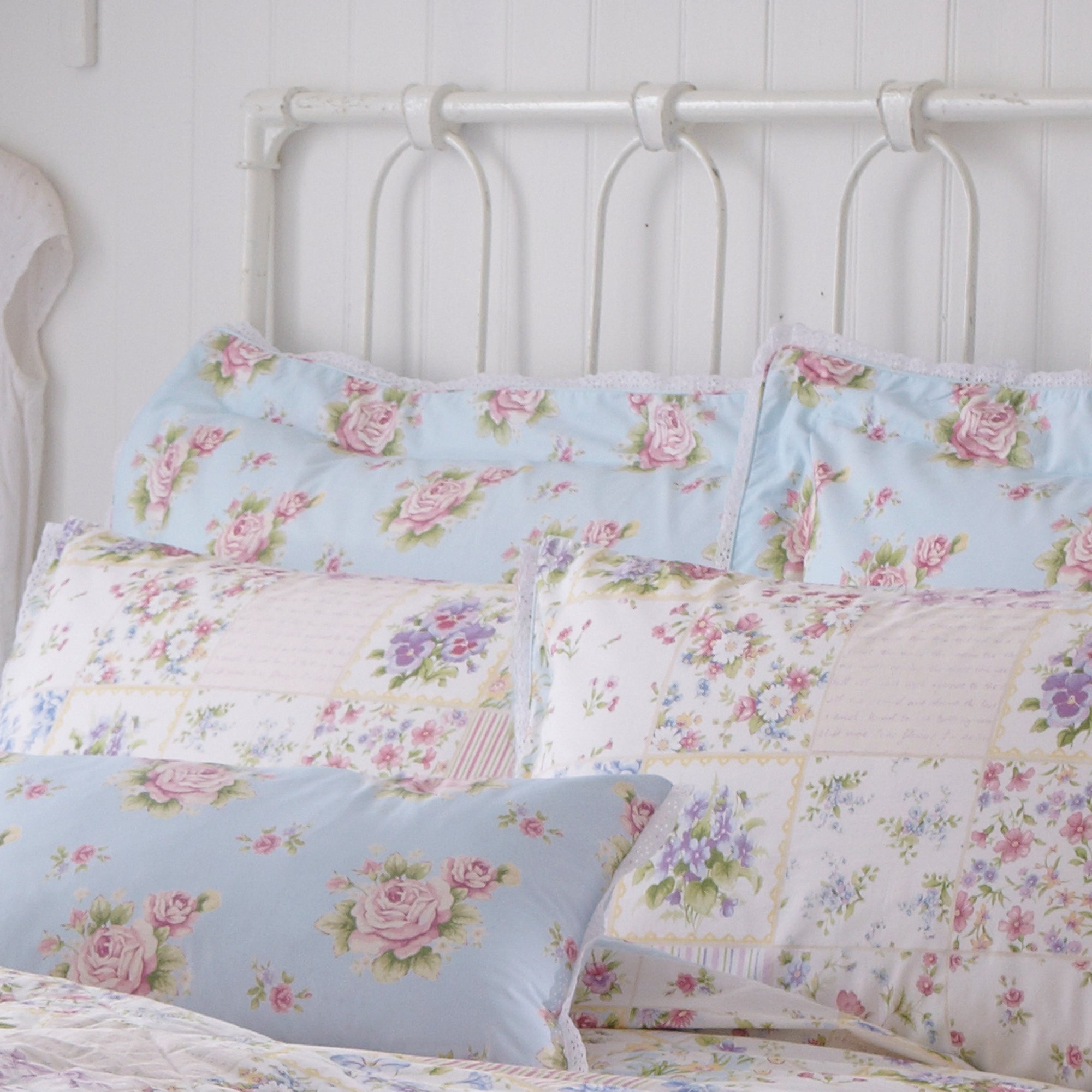 Duck Egg Viola Collection Oxford Pillowcase