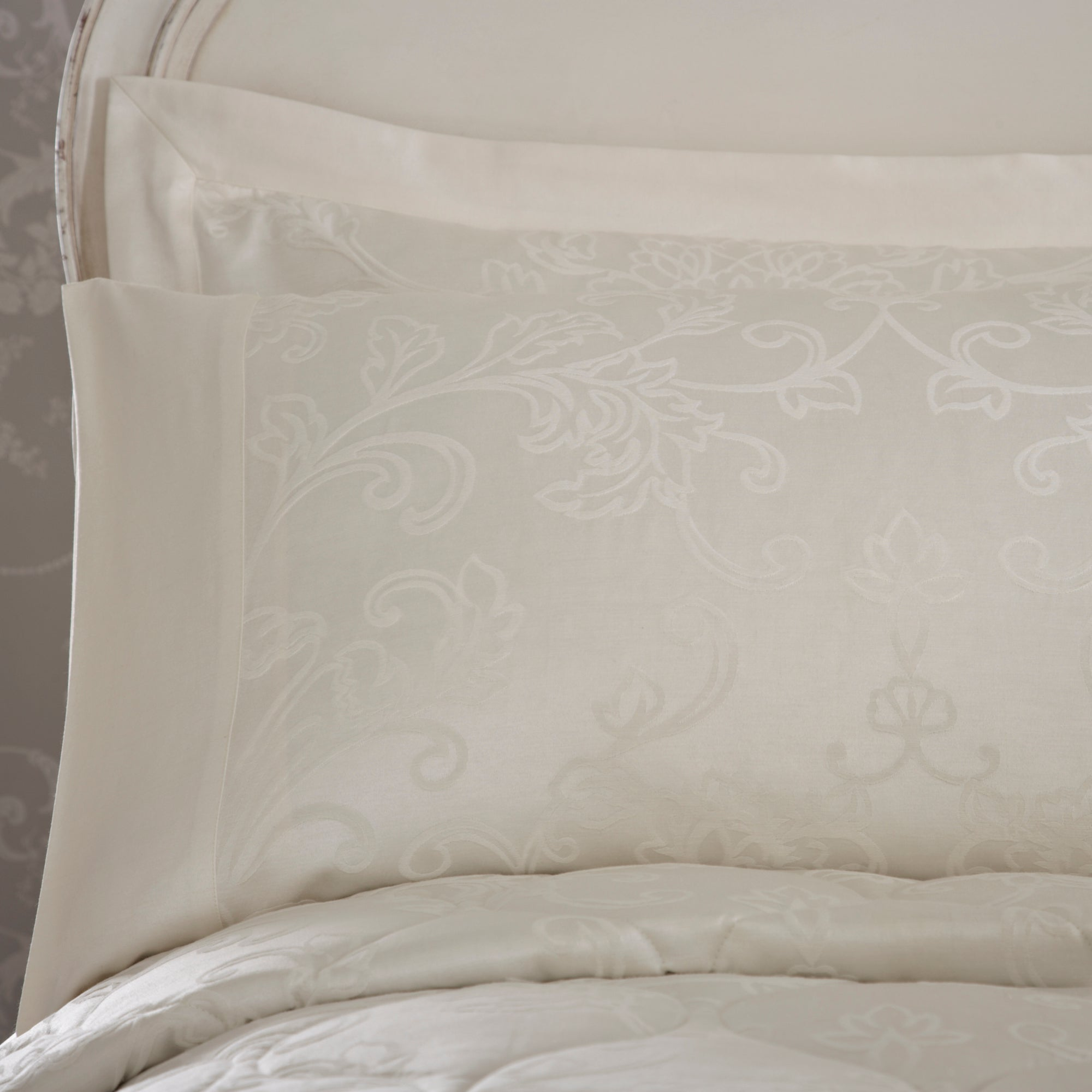 Dorma Cream Pascale Collection Cuffed Pillowcase