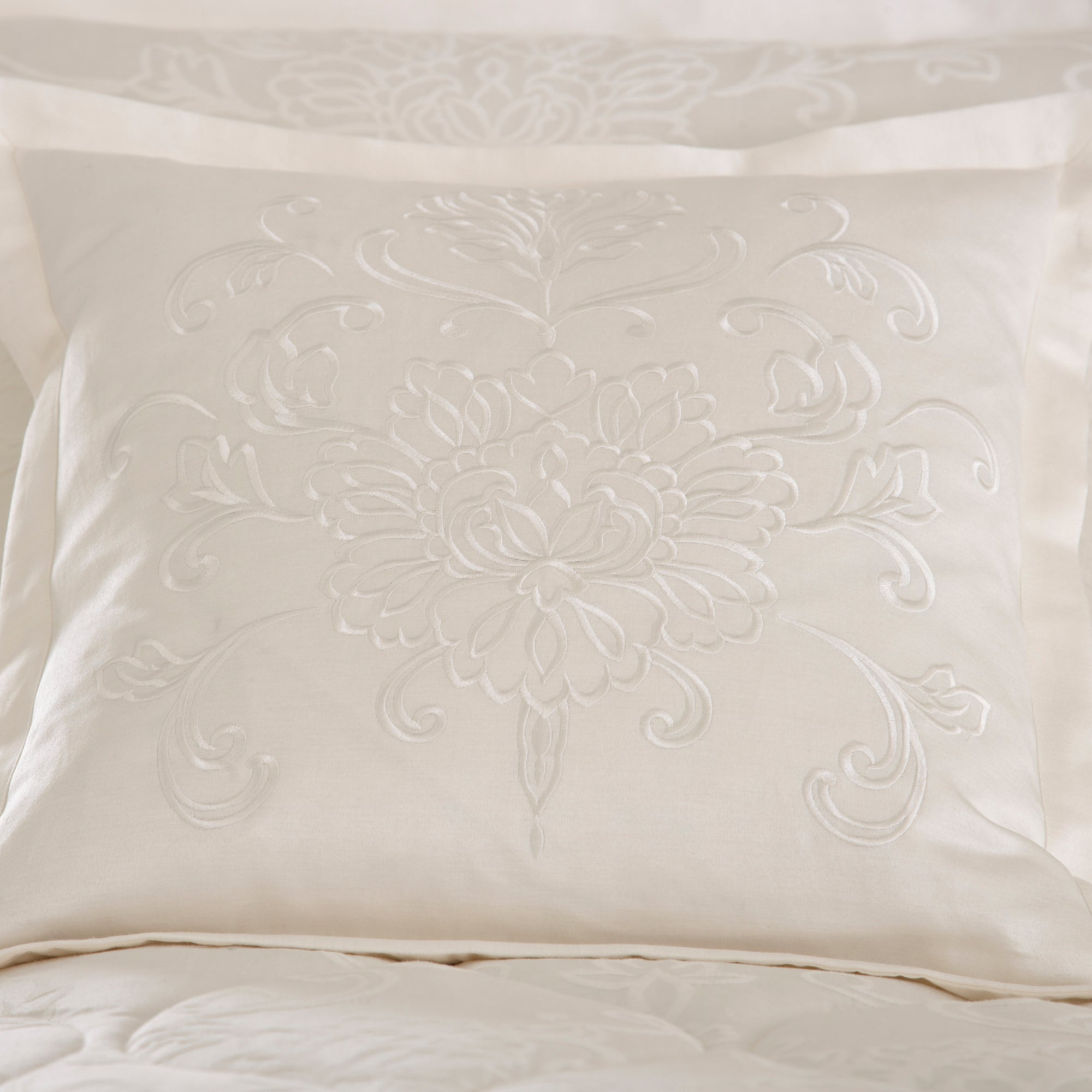 Dorma Cream Pascale Collection Filled Cushion