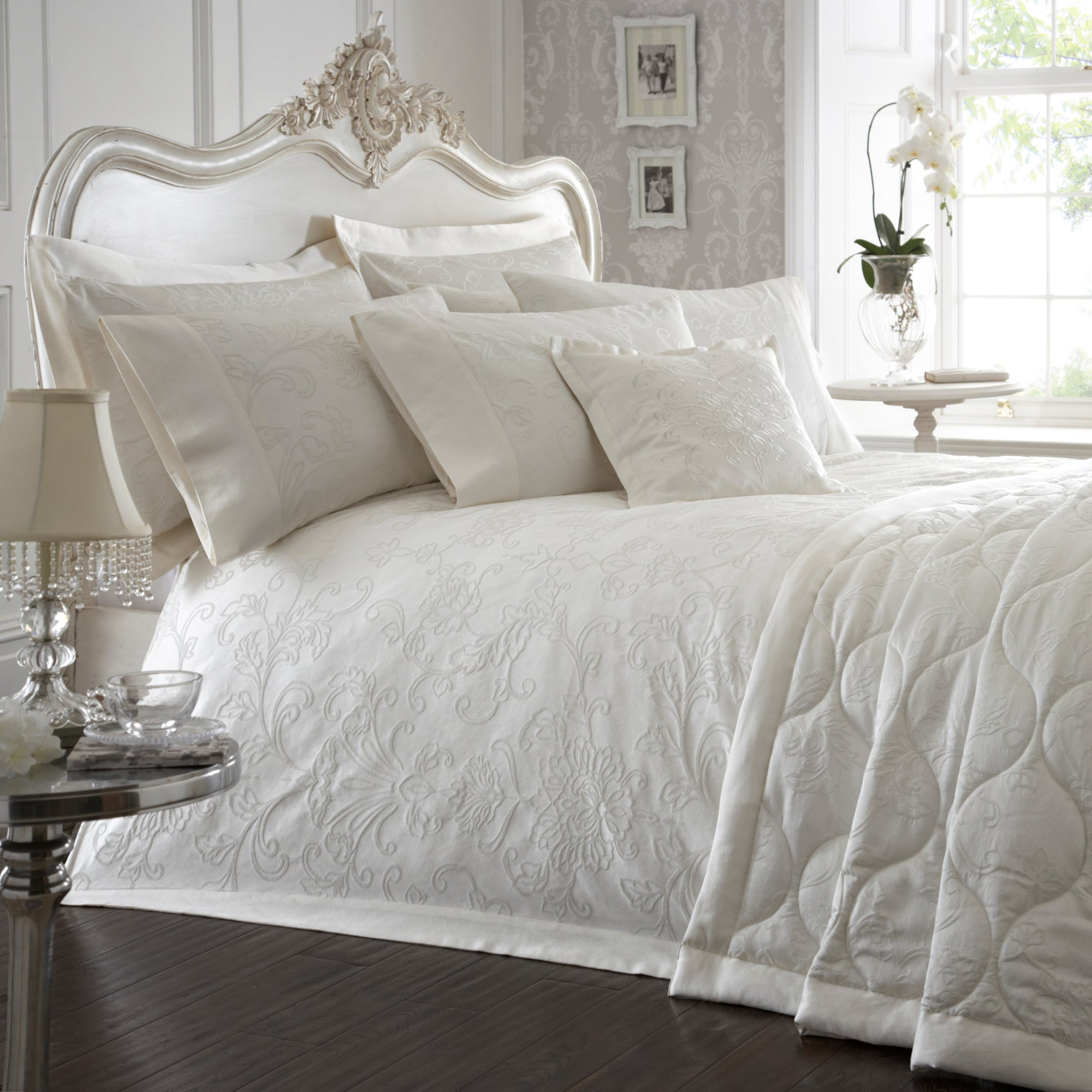 Dorma Cream Pascale Collection Duvet Cover