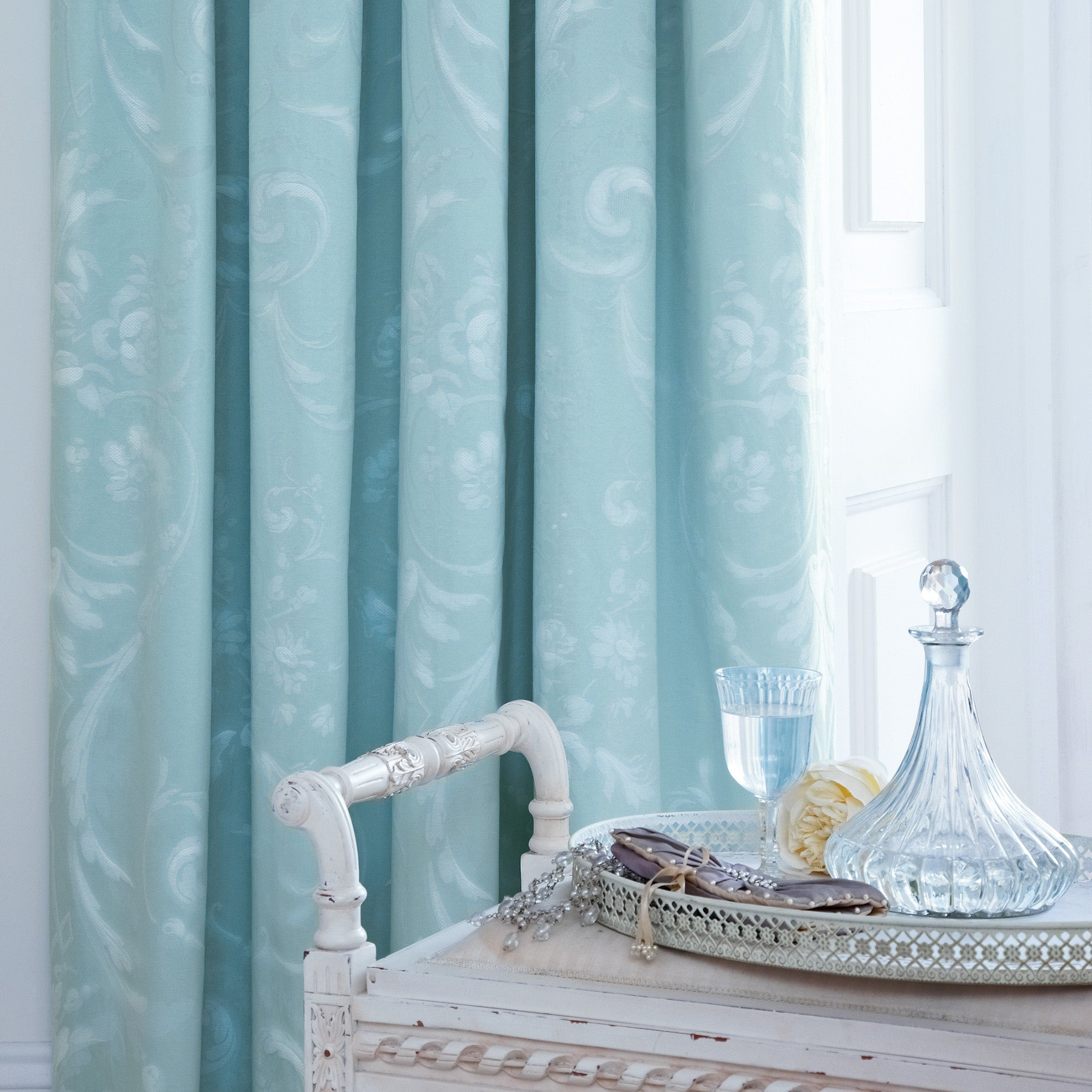 Dorma Duck Egg Regency Lined Pencil Pleat Curtains