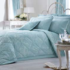 Dorma Duck Egg Regency Collection Quilted Throw