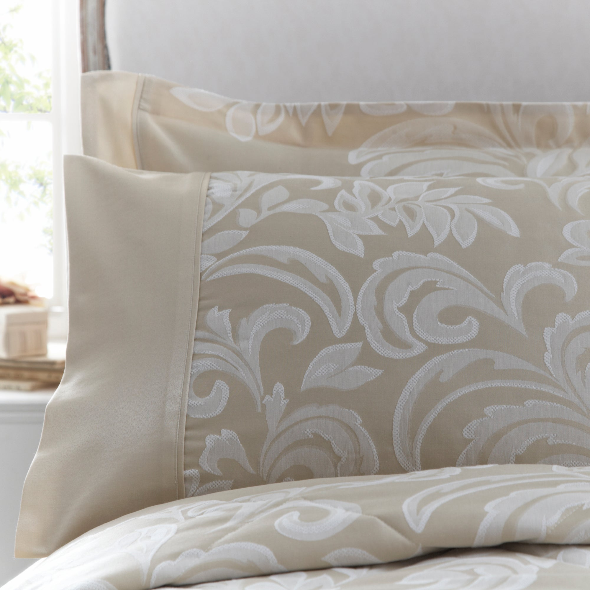 Dorma Gold Versailles Collection Cuffed Pillowcase