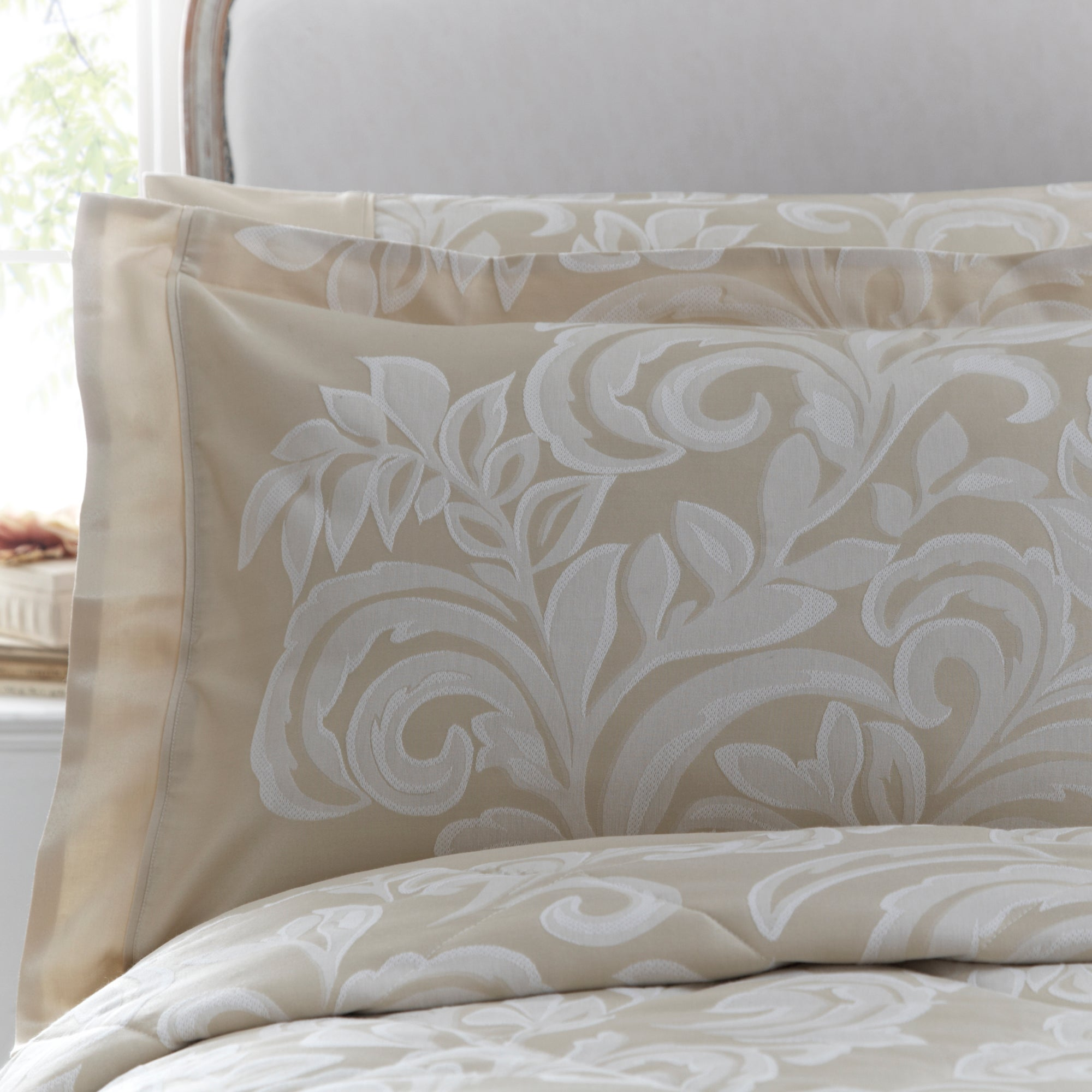 Dorma Gold Versailles Collection Oxford Pillowcase