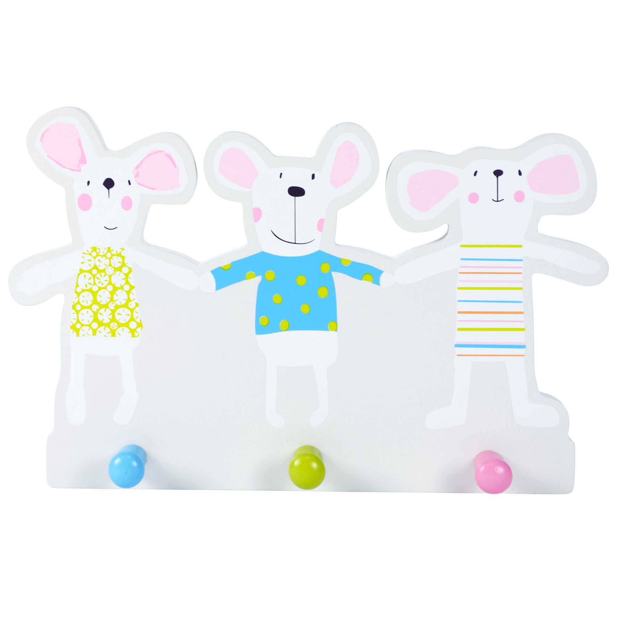 Kids Charlie & Friends Collection Wall Hooks