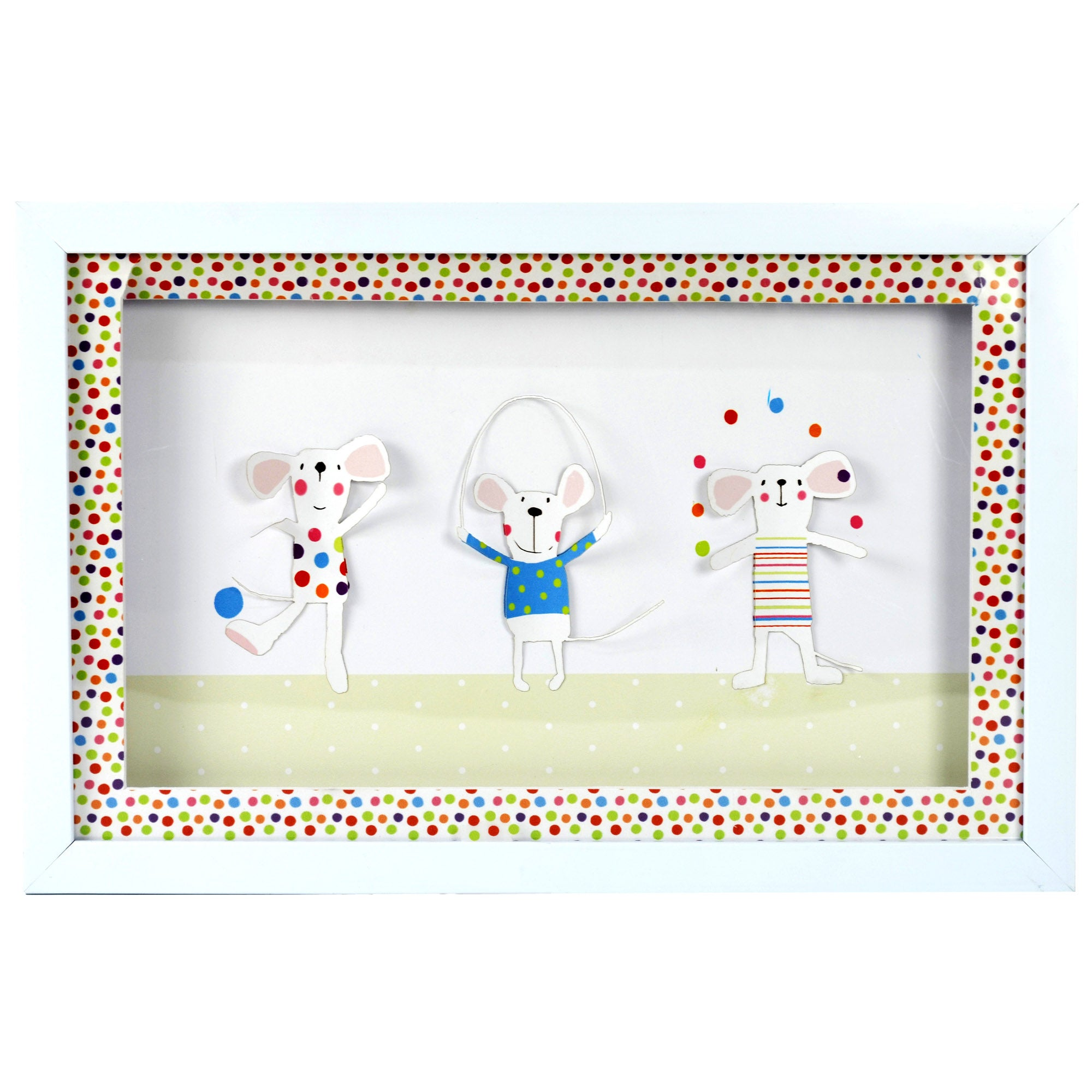 Kids Charlie & Friends Collection 3D Framed Wall Art
