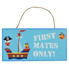 Kids Jolly Pirates Collection Hanging Plaque
