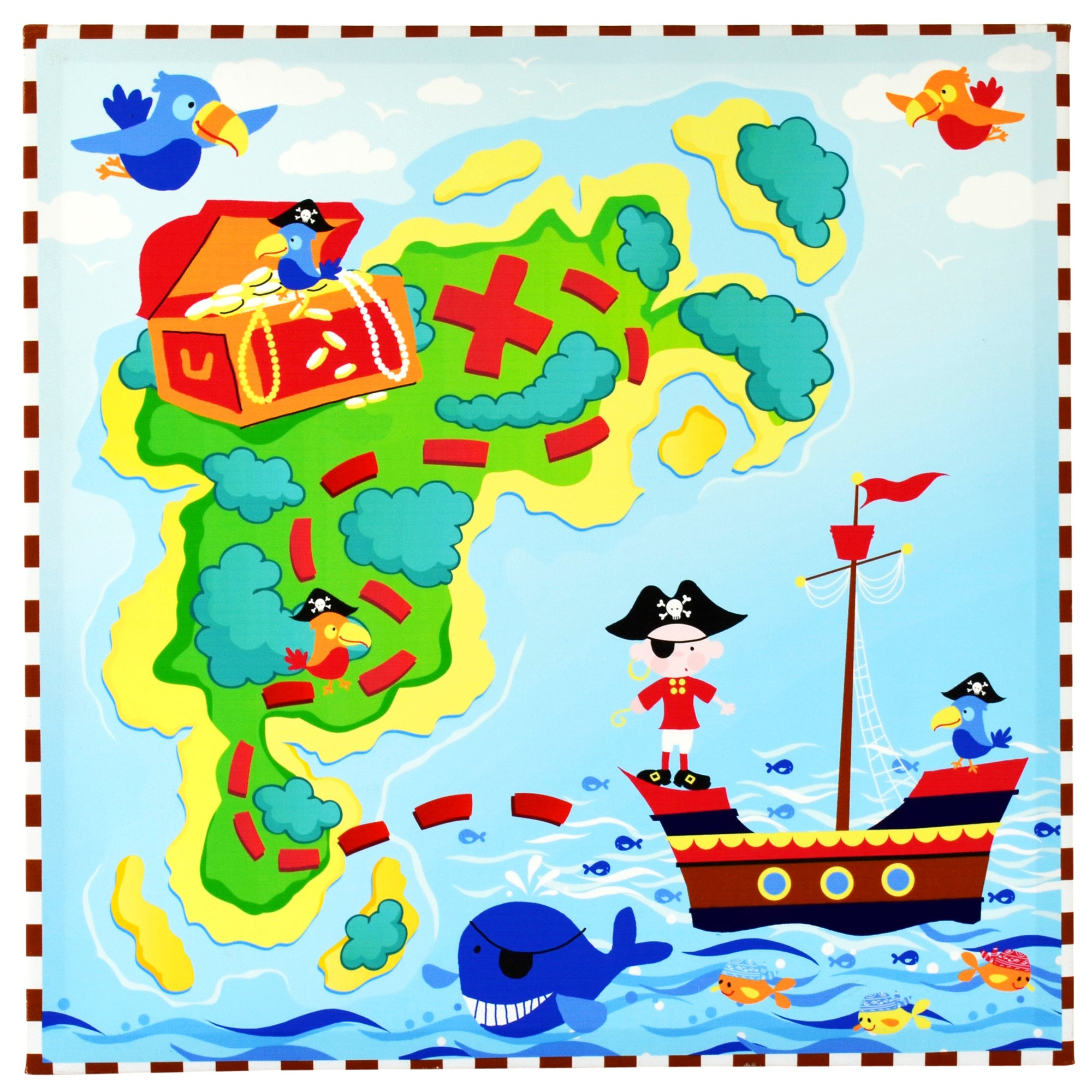 Kids Jolly Pirates Collection Printed Canvas