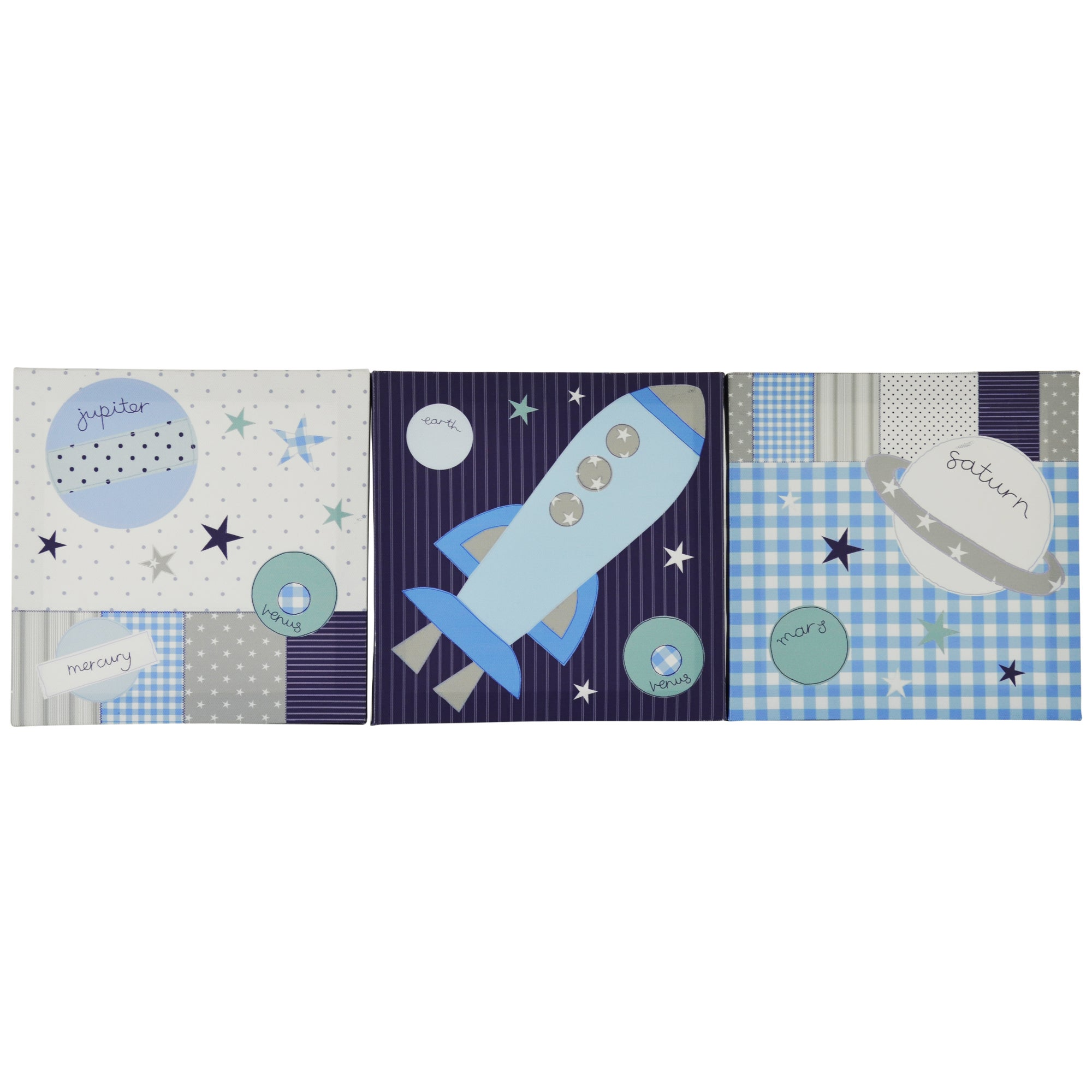 Space Mission Collection Set Of 3 Canvases
