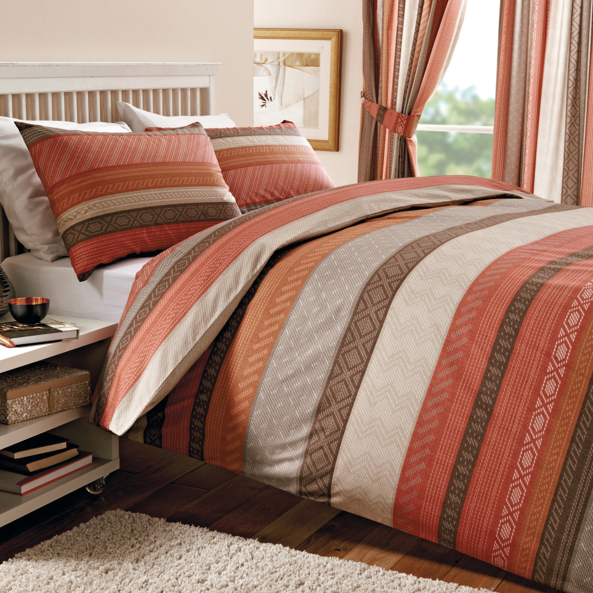 Terracotta Mizar Collection Duvet Cover Set