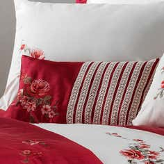 Red Lois Collection Boudoir Cushion