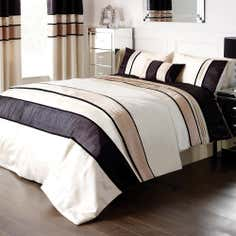 Black Manhattan Collection Duvet Cover