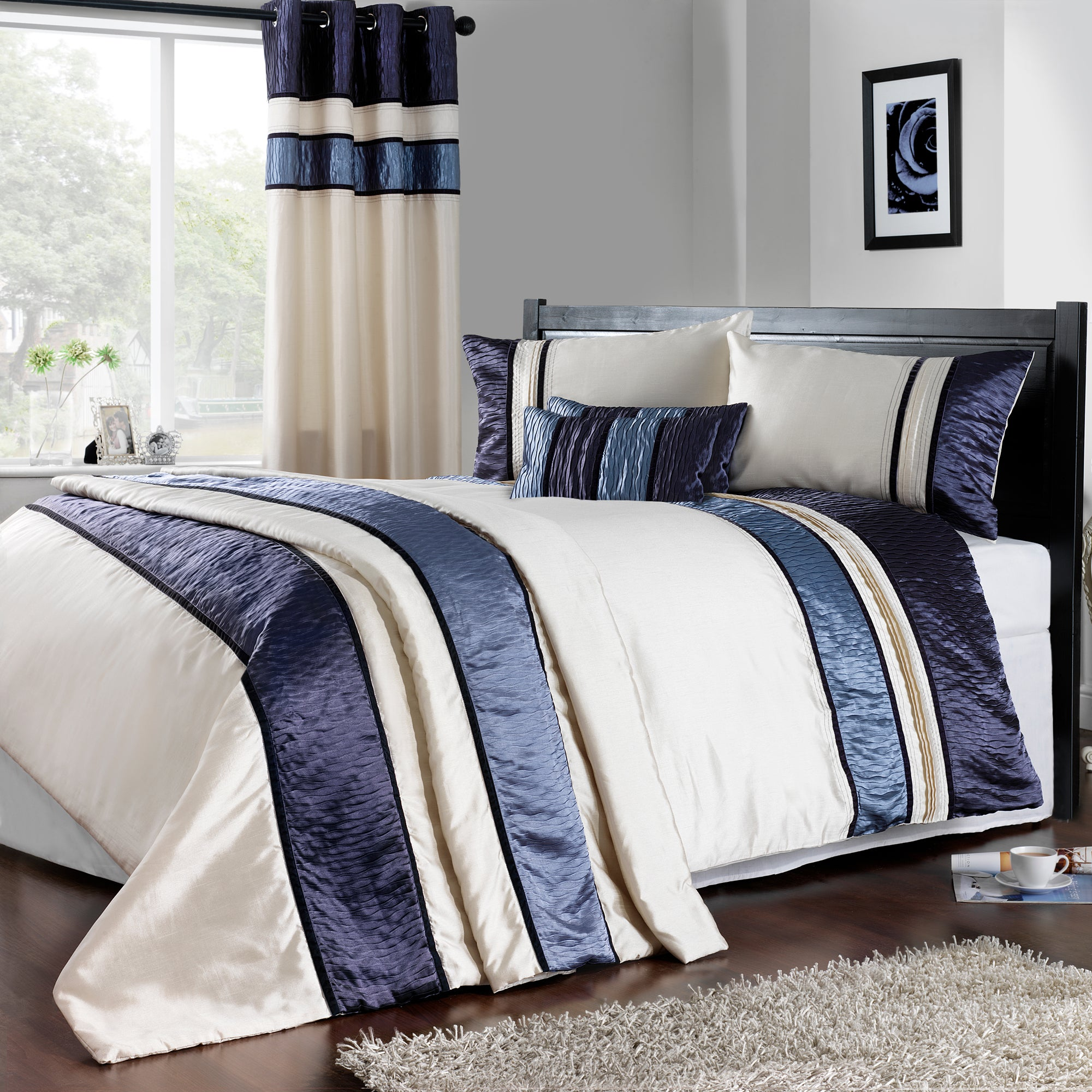 Blue Manhattan Collection Duvet Cover