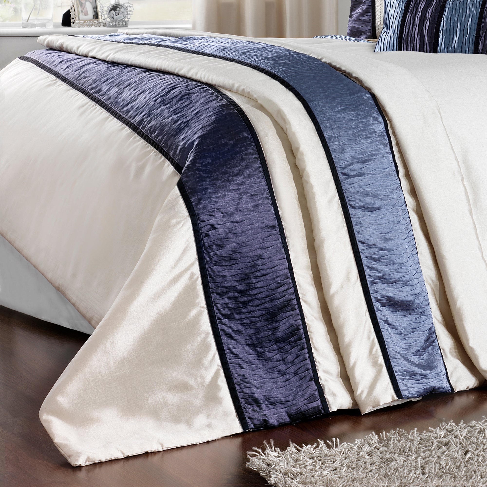 Blue Manhattan Collection Throw
